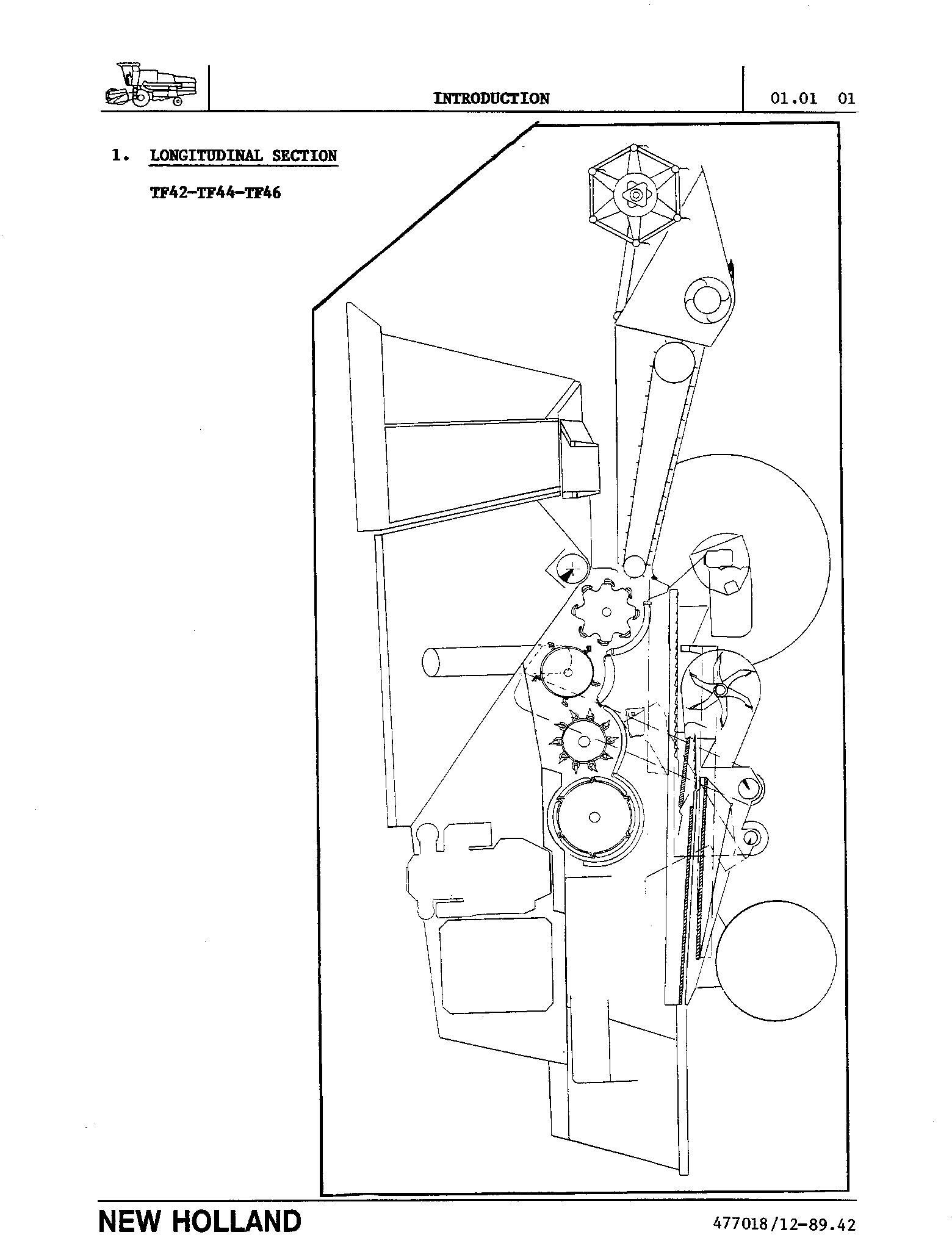 New Holland TX36, TX66, TX68 Combines (for TX66&TX68 Mechanical Info only) Service Manual - 2