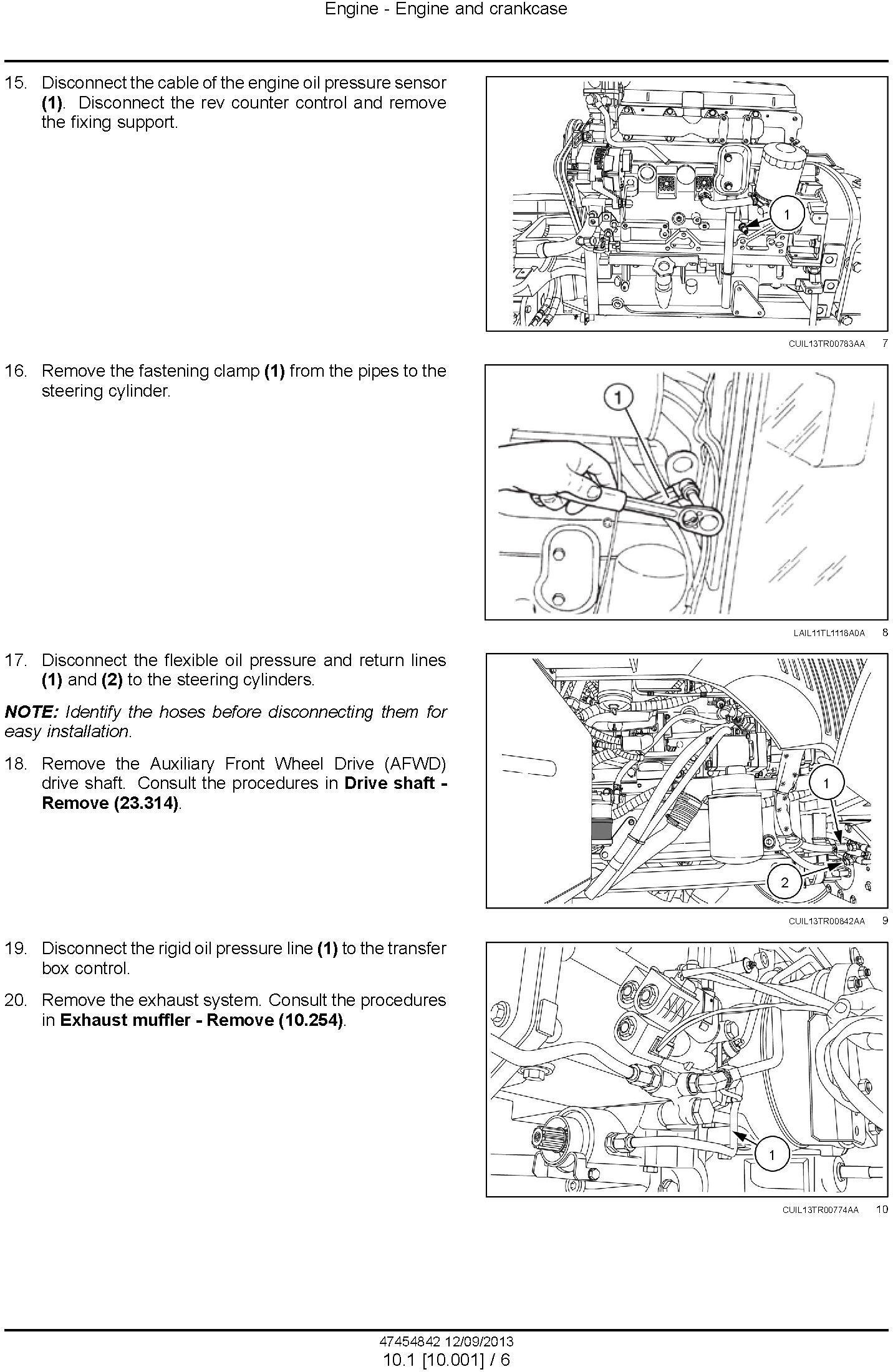 New Holland TL60E, TL75E, TL85E, TL95E Latin American tractors MY2013 Service Manual - 1