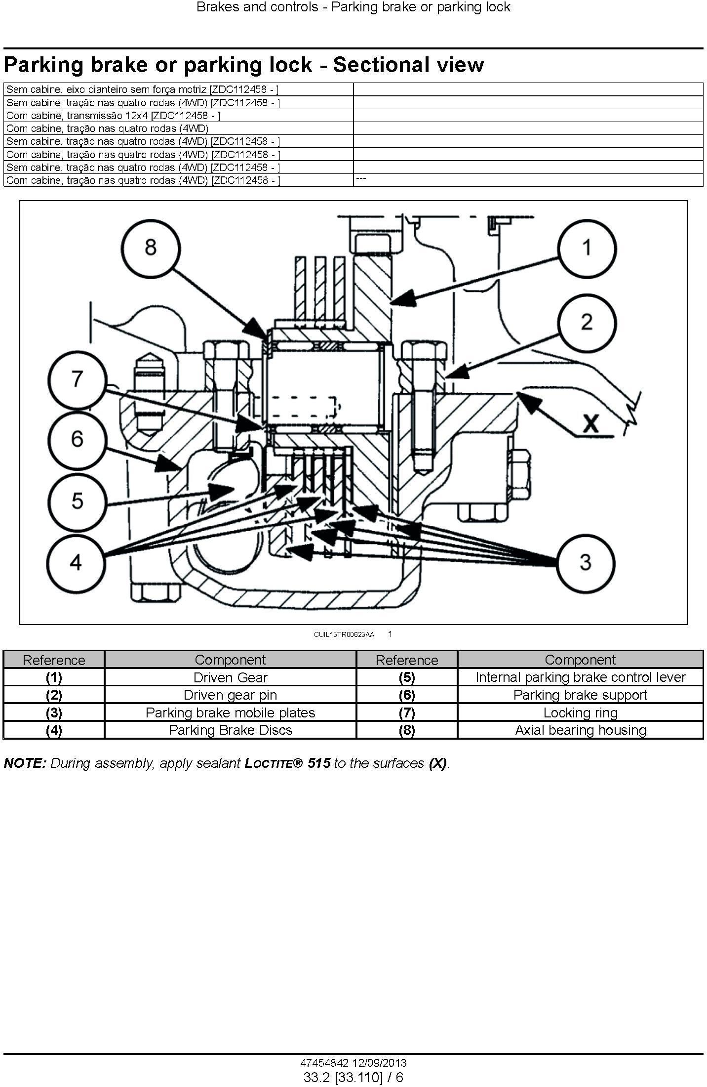 New Holland TL60E, TL75E, TL85E, TL95E Latin American tractors MY2013 Service Manual - 2