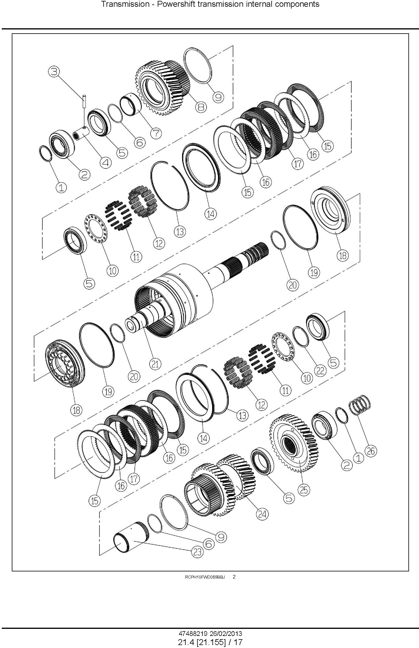 New Holland T9.390, T9.450, T9.505, T9.560, T9.615, T9.670 Tractor Service Manual - 2