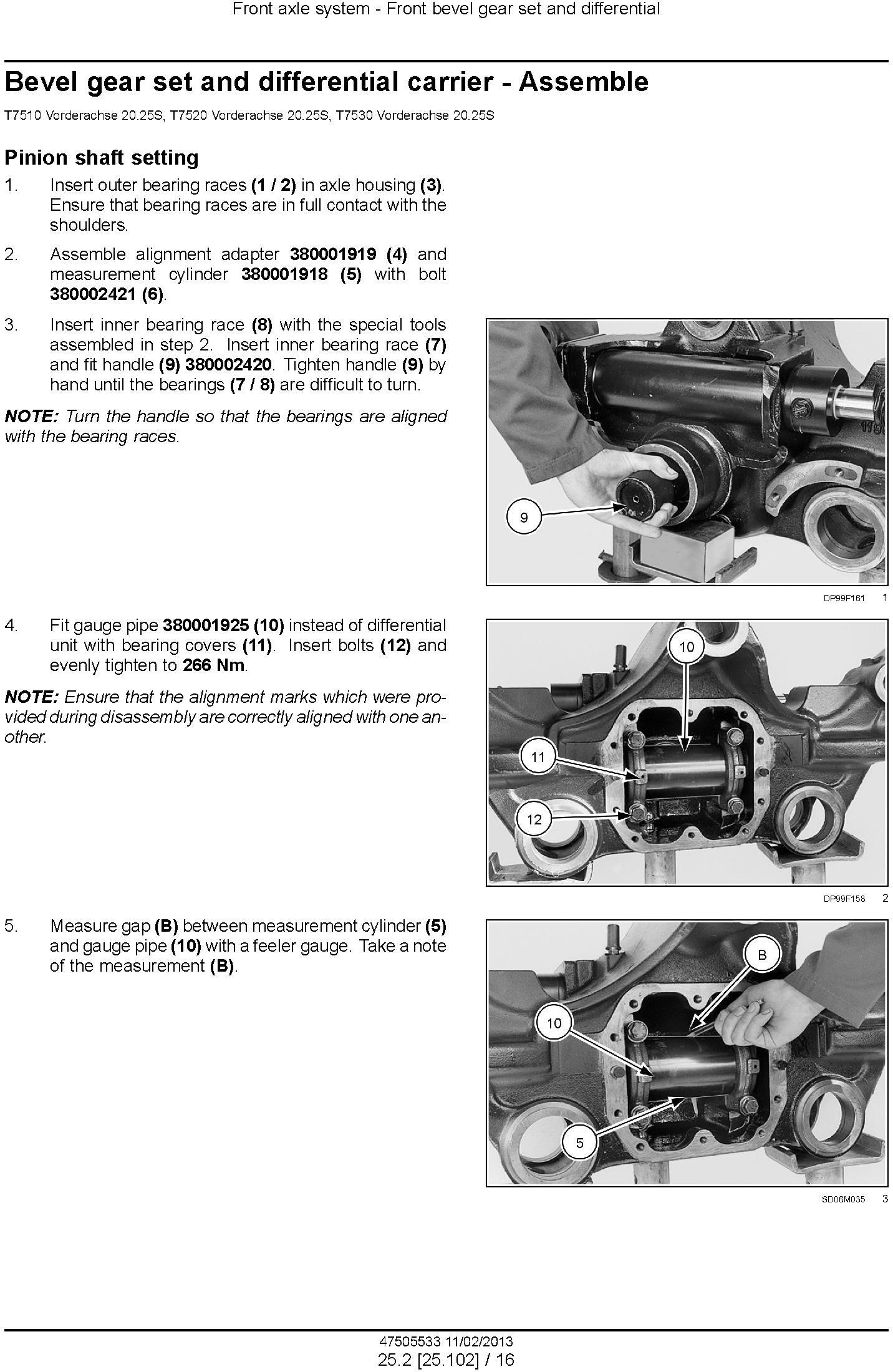 New Holland T7510, T7520, T7530, T7540, T7550 Tractor Service Manual - 2