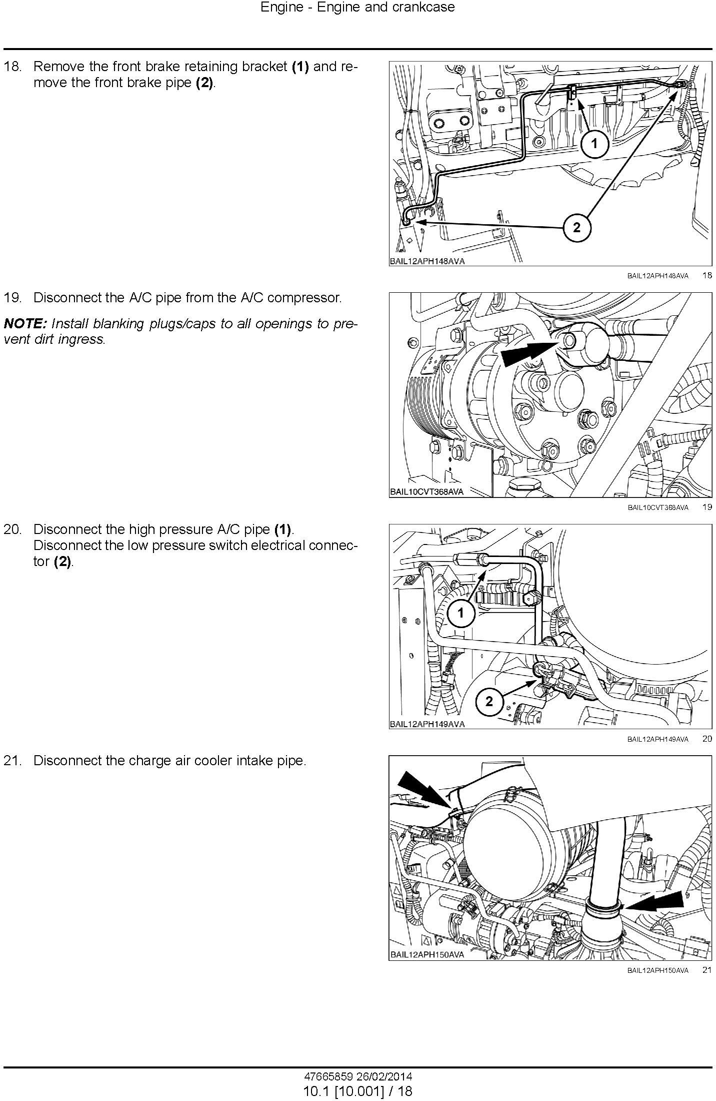 New Holland T6.120, T6.140, T6.150, T6.155, T6.160, T6.165, T6.175 European Tractor Service Manual - 1
