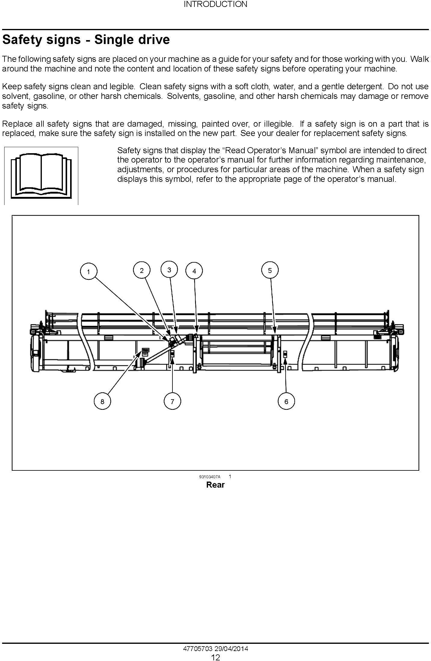 New Holland VariFeed 760CG Grain Header Service Manual - 1