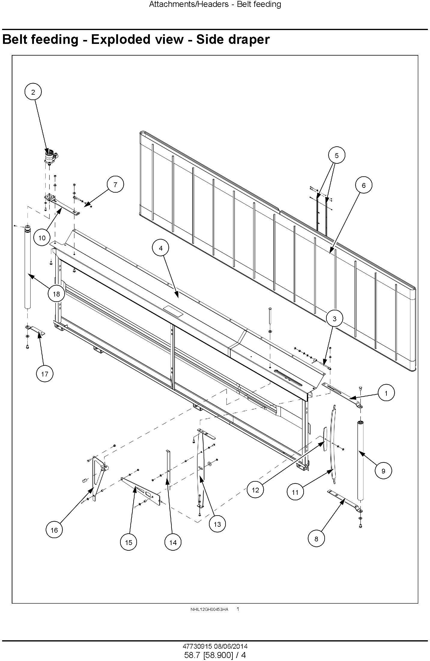 New Holland 840CD, 880CF Draper Header Service Manual - 3