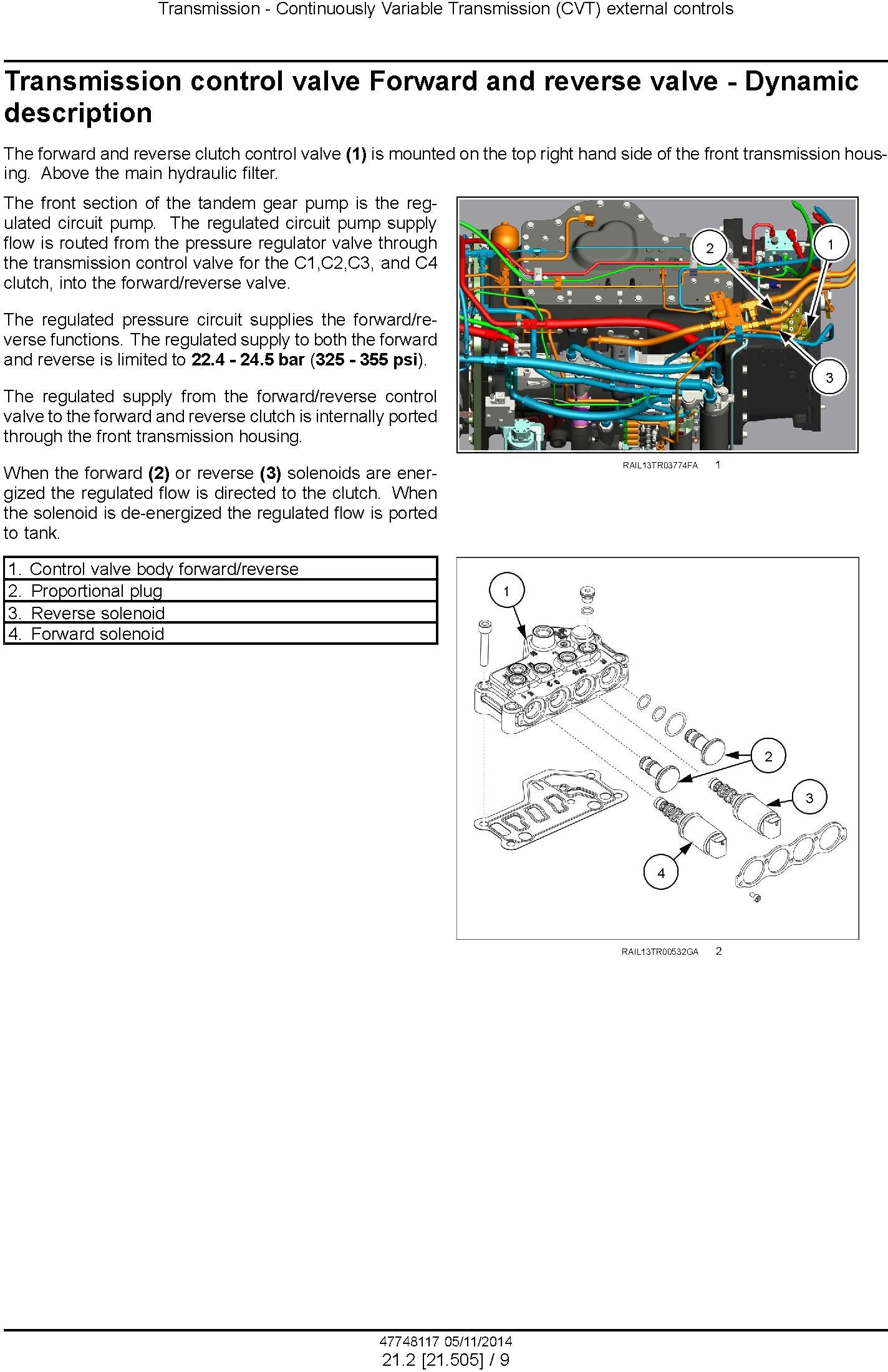New Holland T8.320 T8.350 T8.380, T8.410, T8.435 and SmartTrax Tractor w.CVT Complete Service Manual - 2