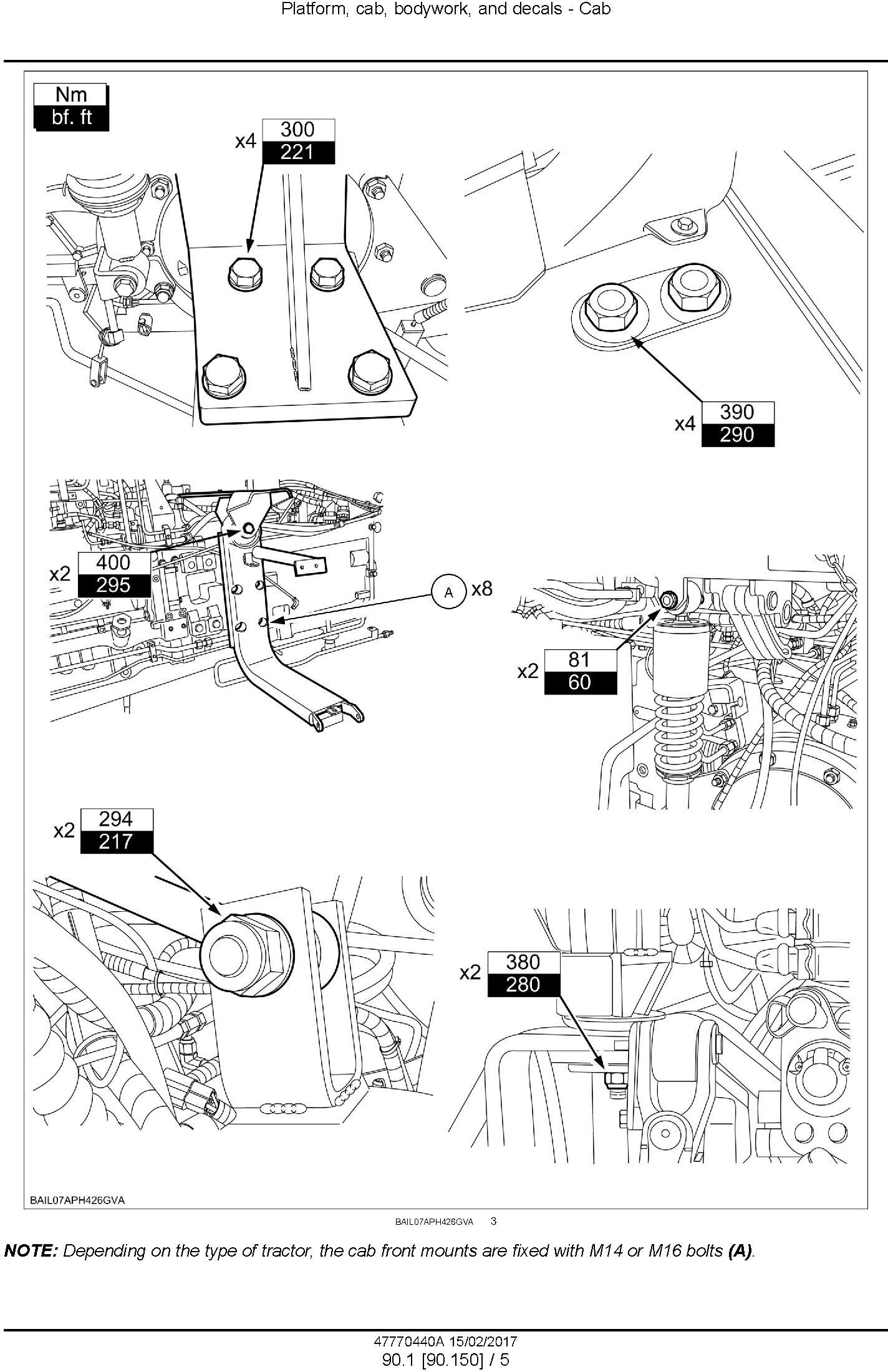 New Holland T7.240, T7.245, T7.260 Tractor Service Manual - 2
