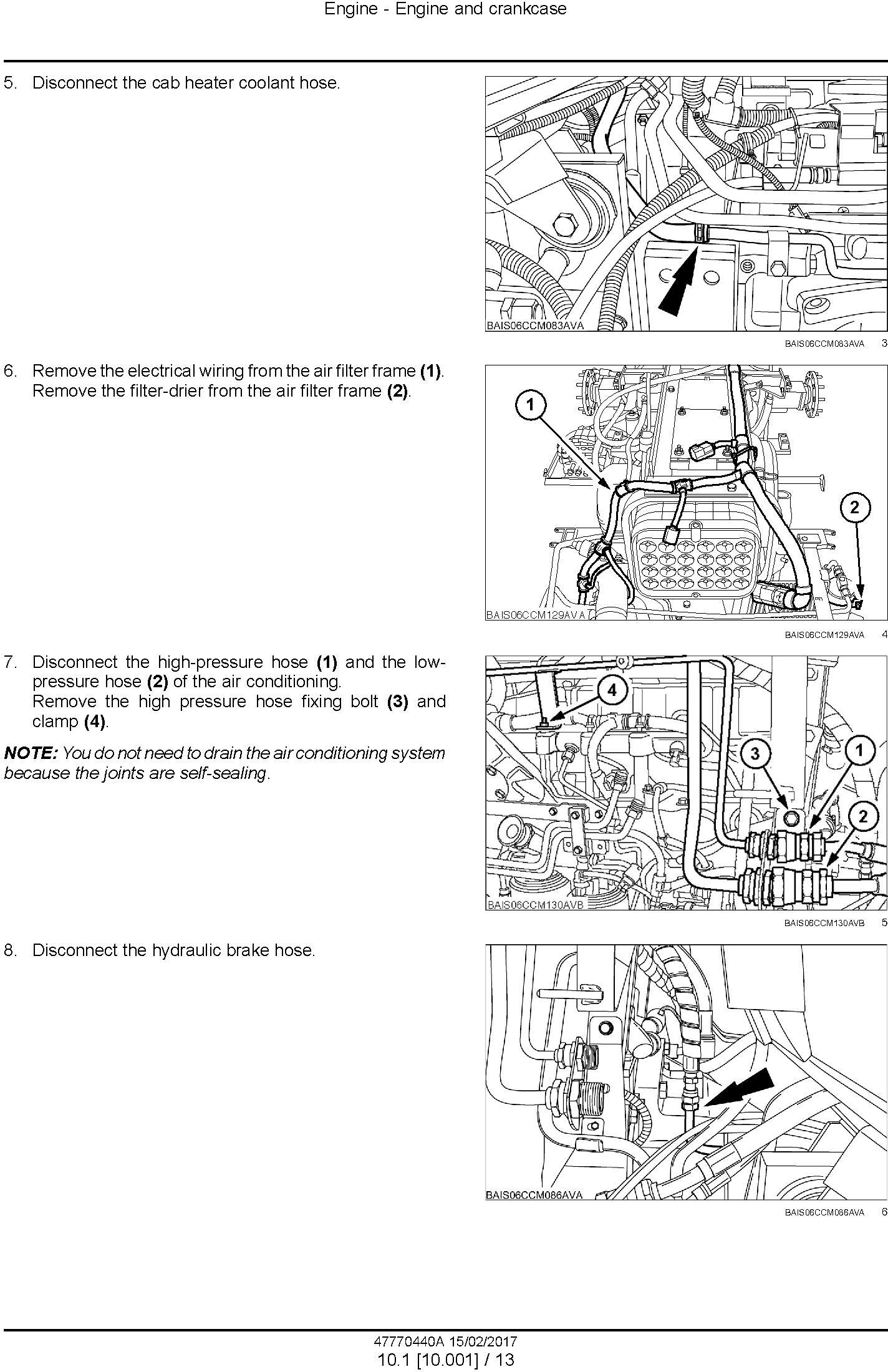 New Holland T7.240, T7.245, T7.260 Tractor Service Manual - 1