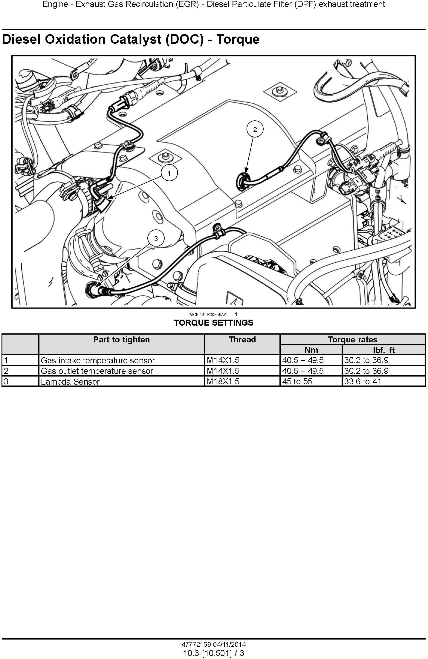 New Holland T4.55, T4.65, T4.75 PowerStar Tier4B Final Tractor Service Manual - 2