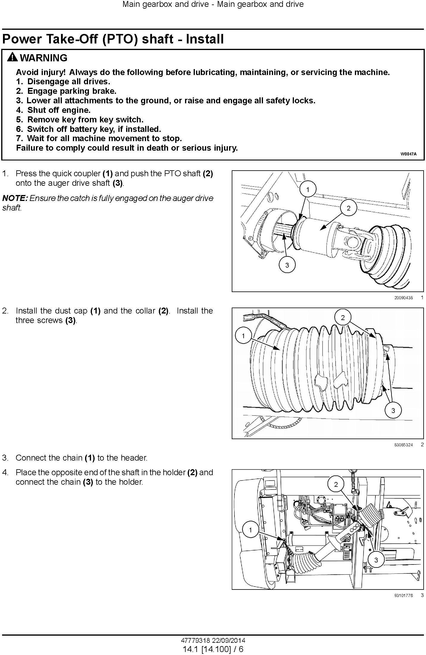 New Holland 790CP Pick-up Header Service Manual - 2
