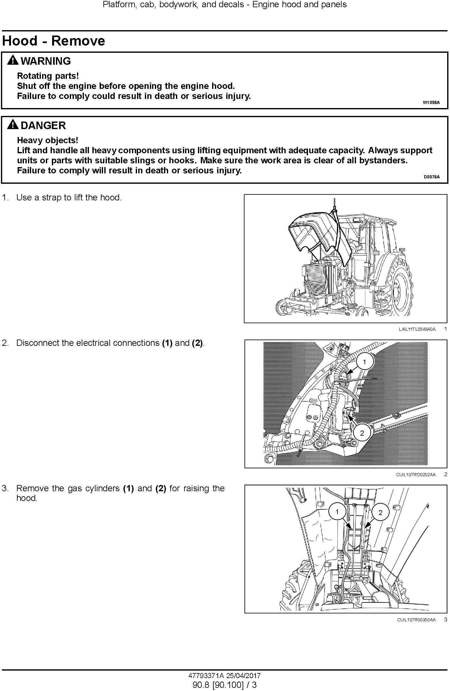 New Holland T6.110, T6.120, T6.130, Tier 3 Tractor Service Manual - 2