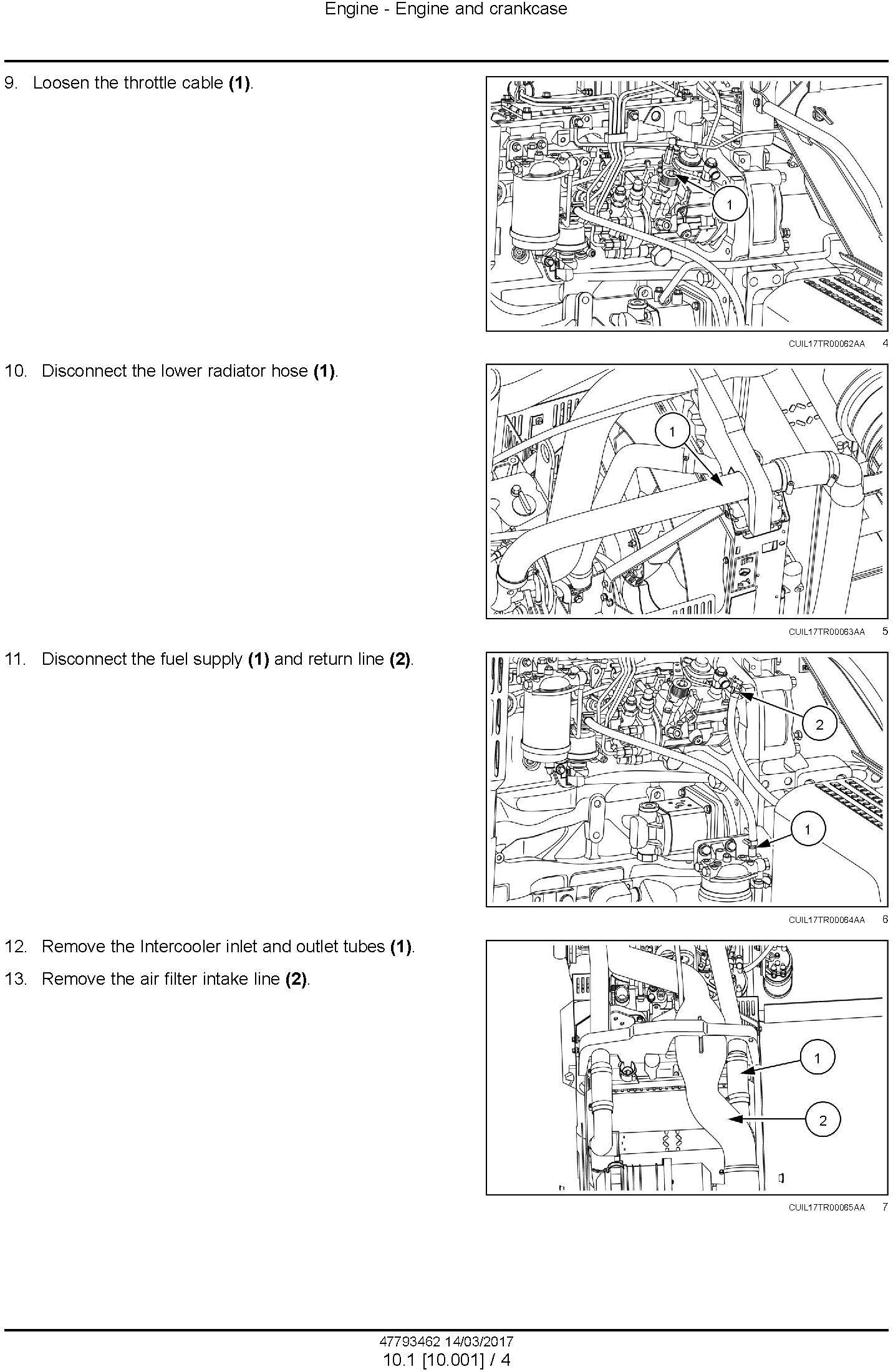 New Holland 7630, 8030 Tier 3 Tractors Service Manual - 1