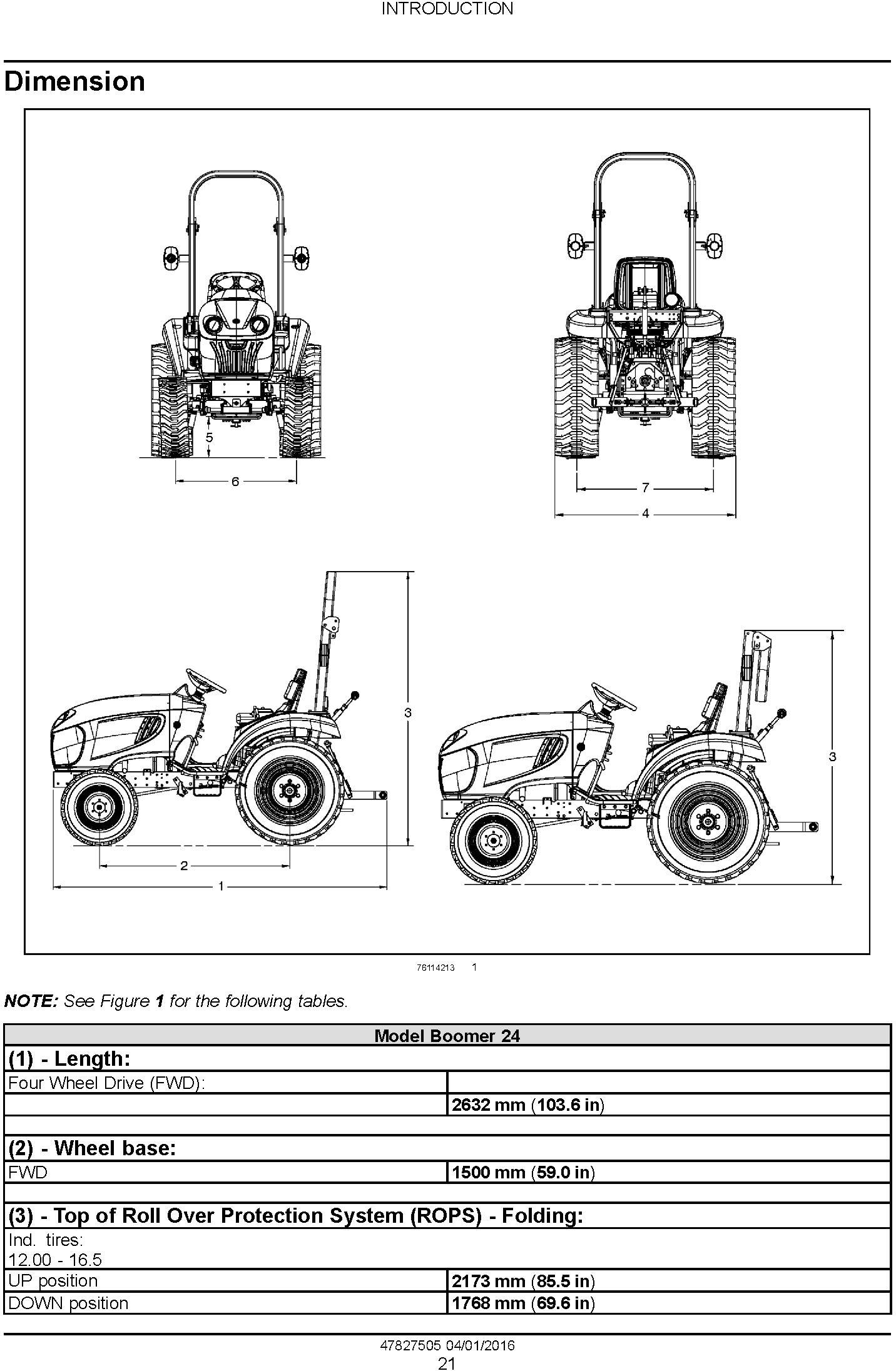 New Holland Boomer 24 Tier 4B final Tractor Complete Service Manual (North America) - 1