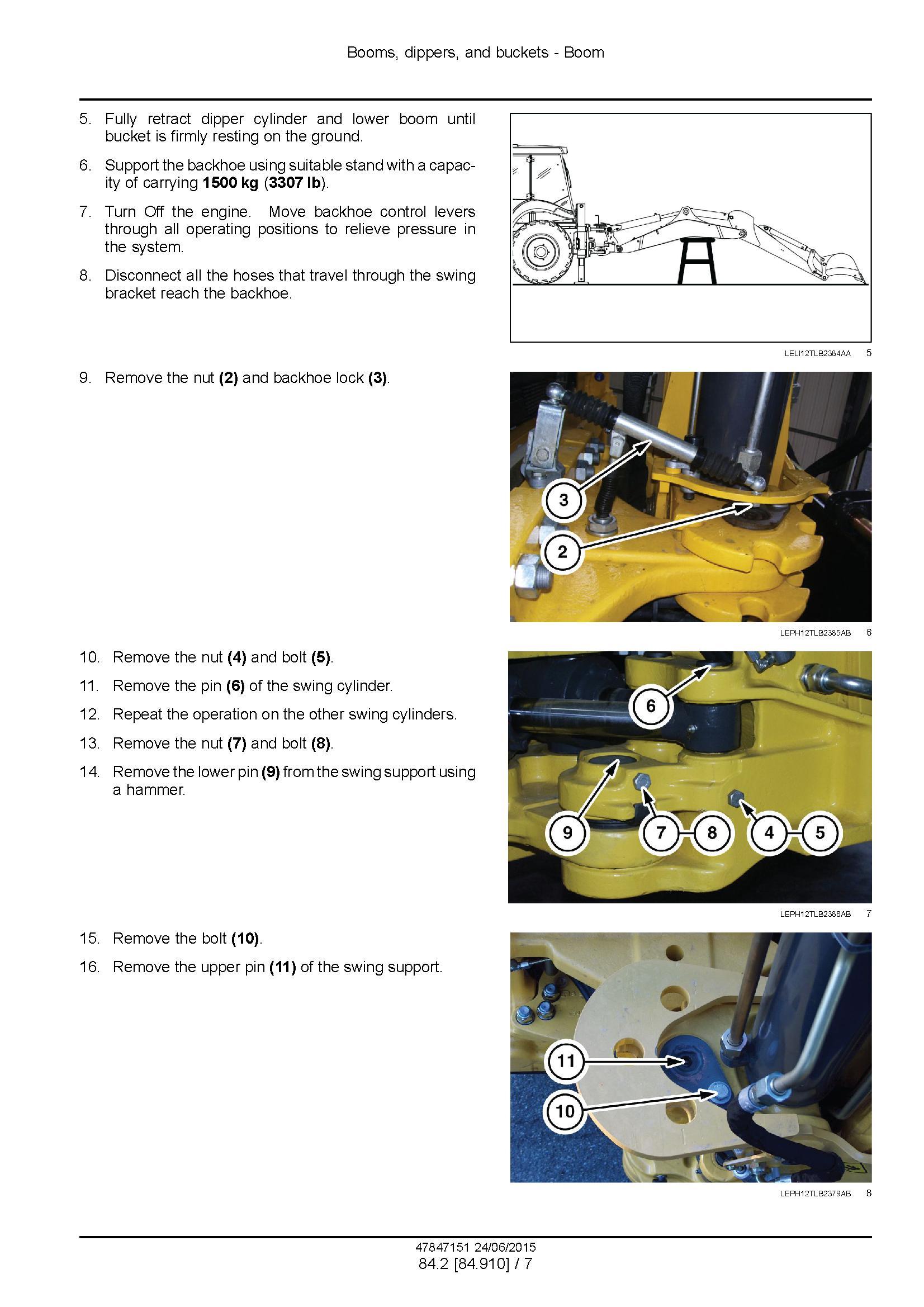 New Holland B100C, -LR -TC, B110C TC, B115C Stage III B Tractor loader backhoe Service Manual - 2
