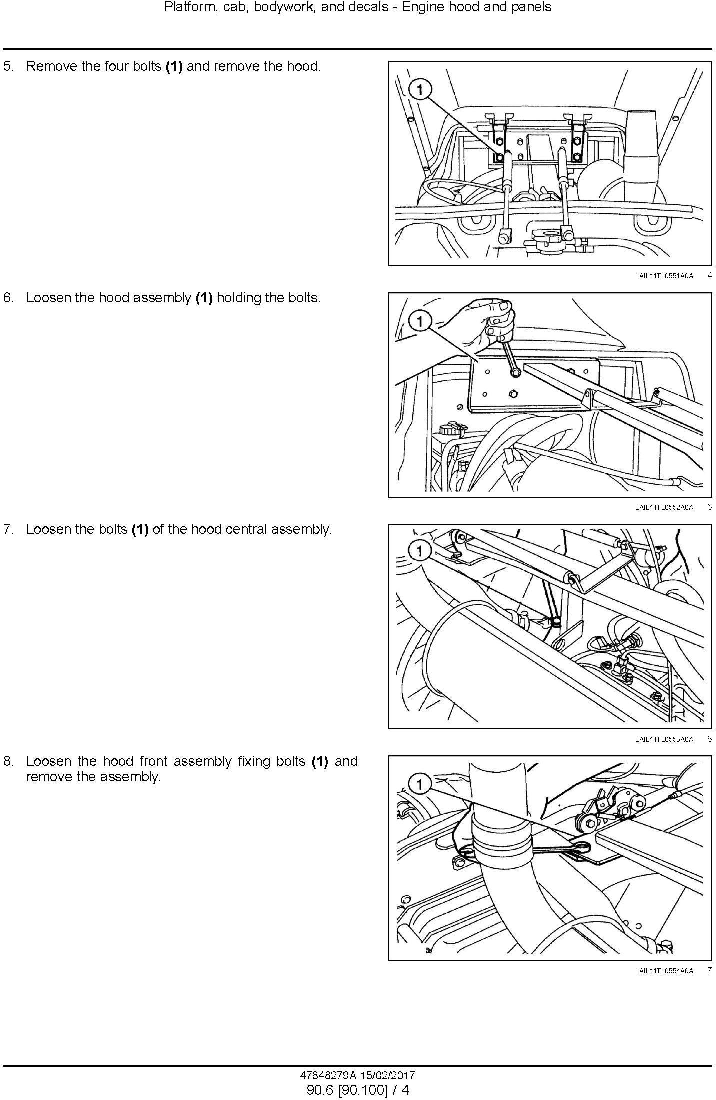New Holland TL75E, TL85E, TL95E Power shuttle tractor Service Manual (Latin America) - 1