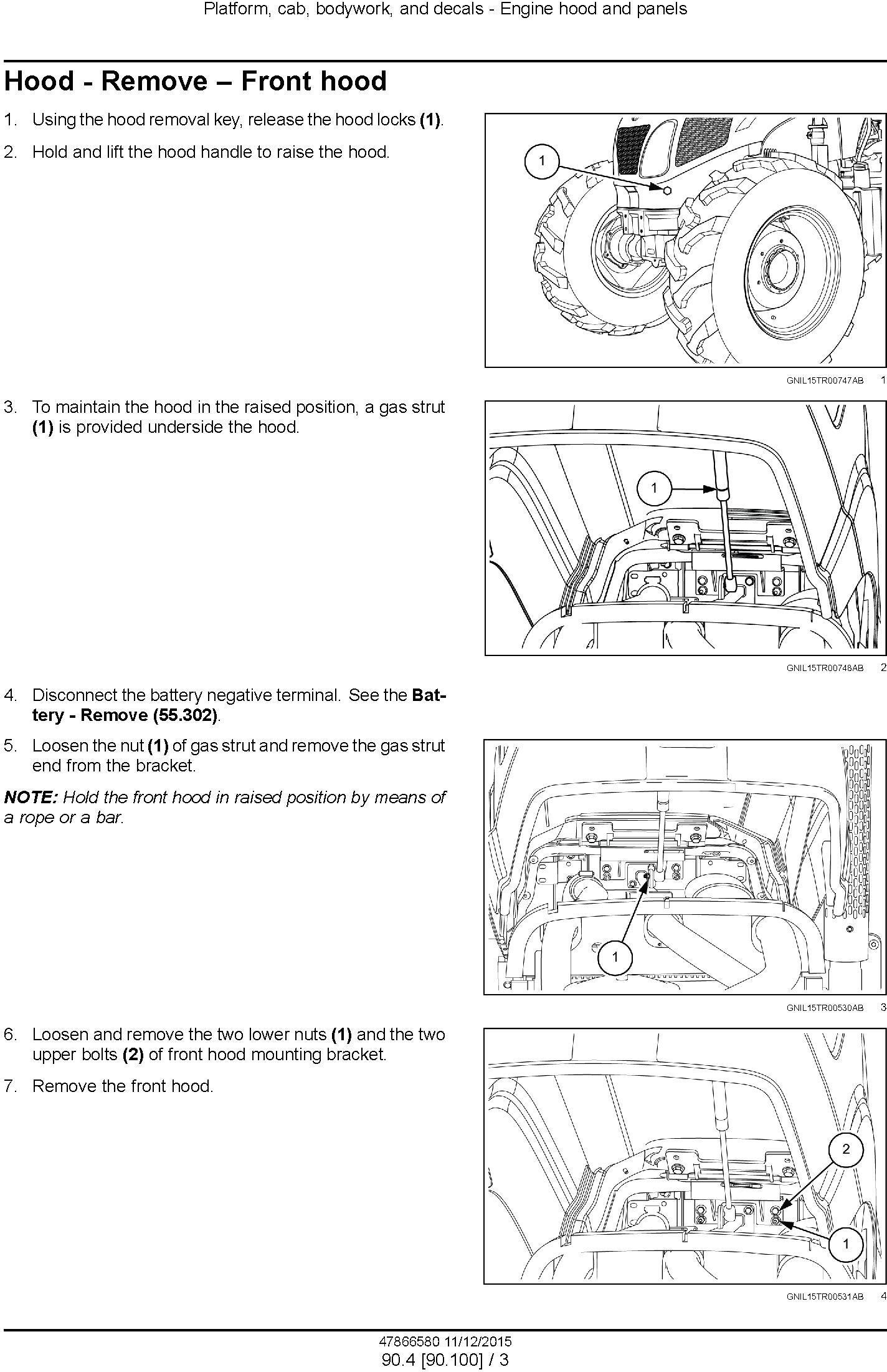 New Holland TT4.80, TT4.90 Tractor Service Manual - 1