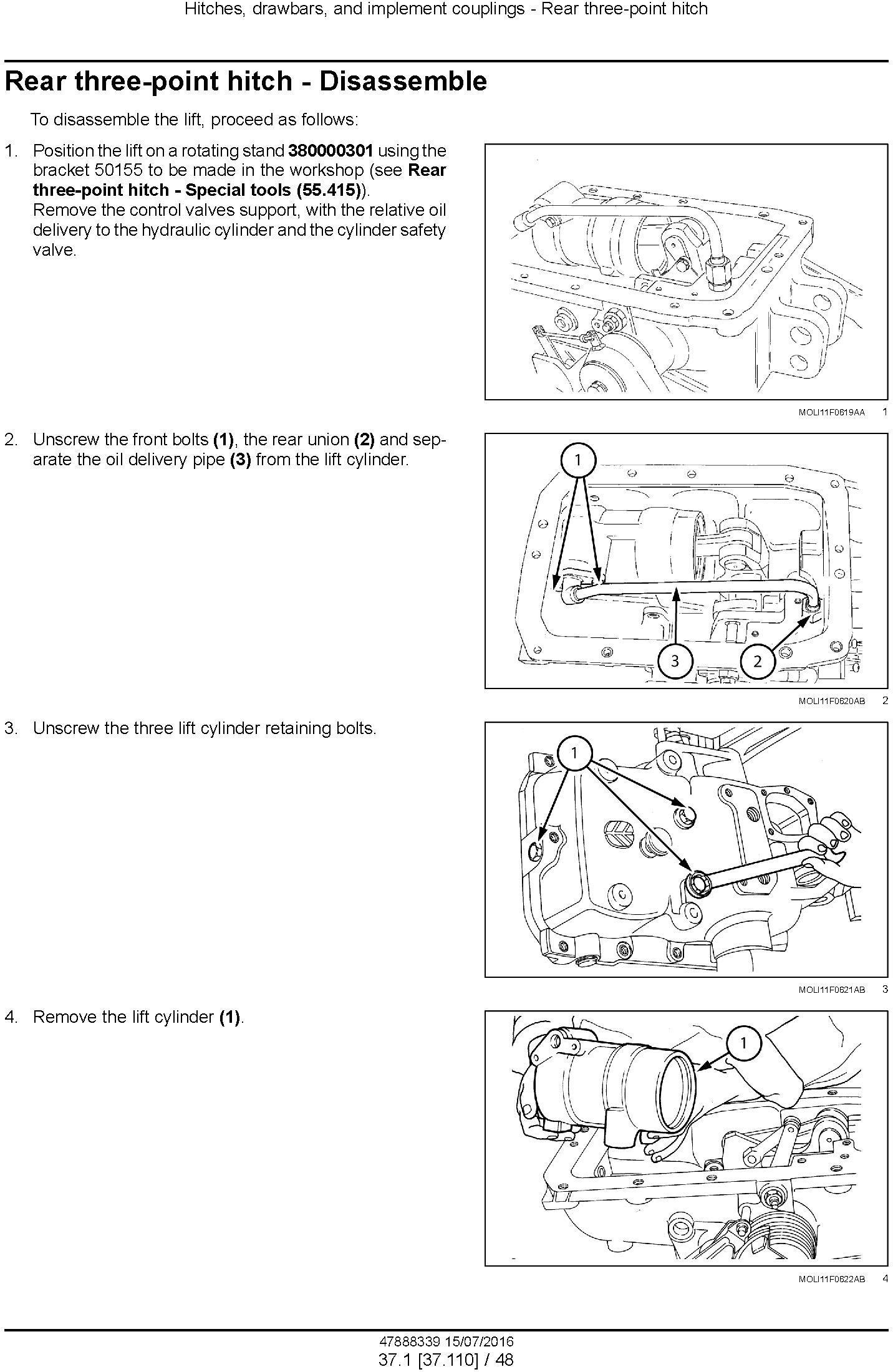 New Holland T4030F, T4040F, T4050F, T4060F Tractor Service Manual - 1