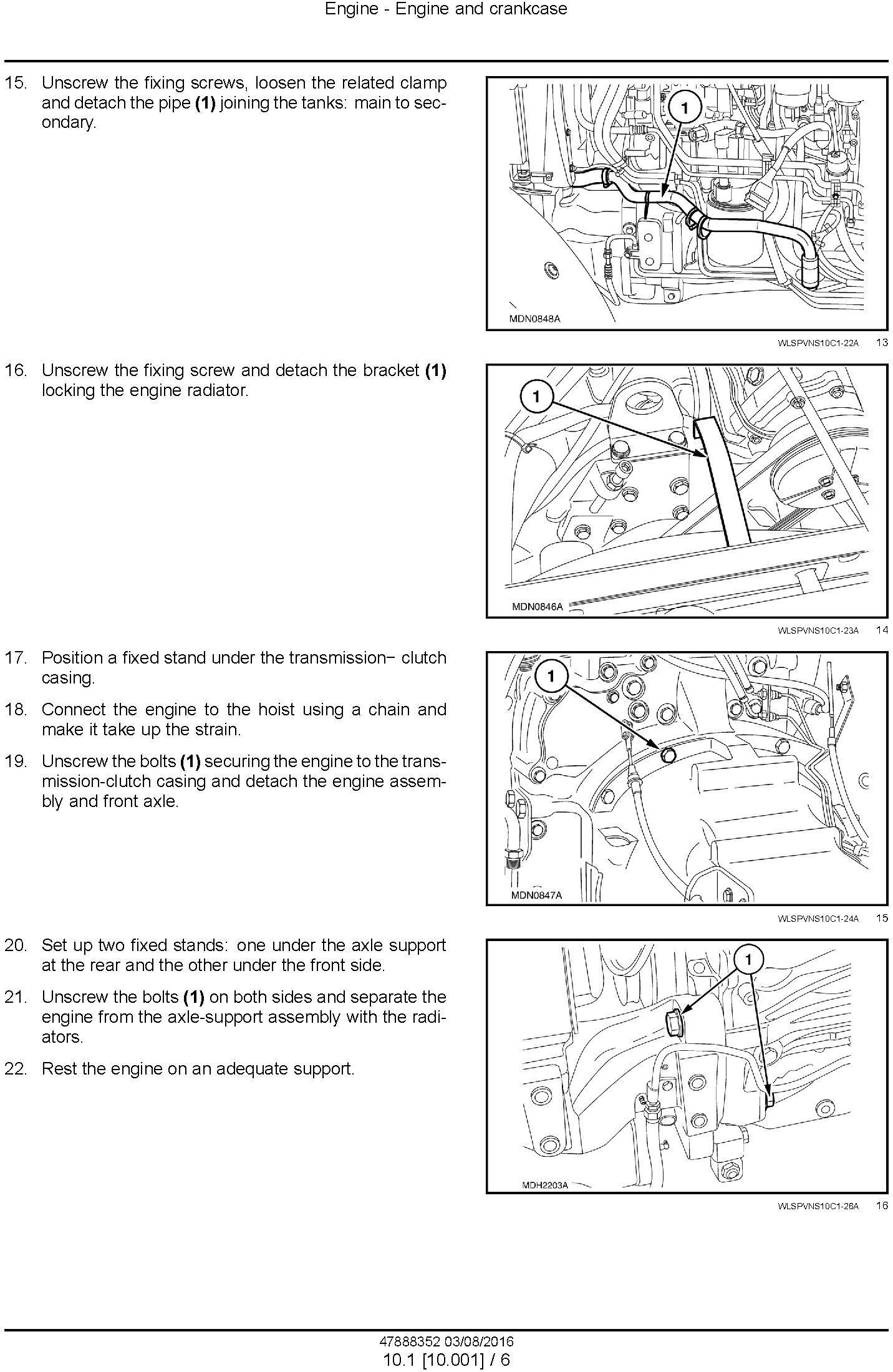 New Holland T4030V, T4040V Tractor Service Manual (Latin America) - 1