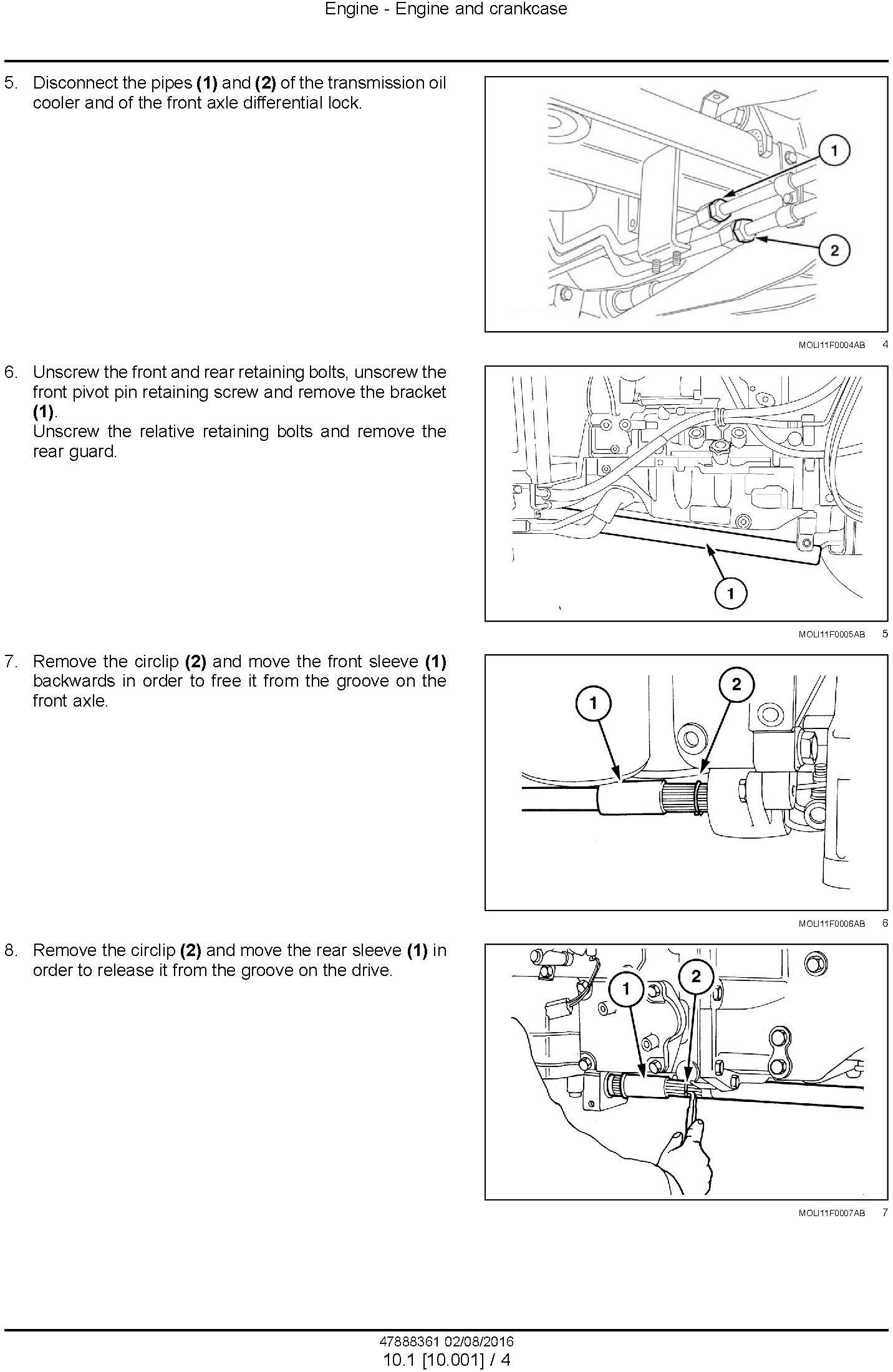 New Holland T4.75F, T4.85F, T4.95F, T4.105F Tractor Service Manual - 1