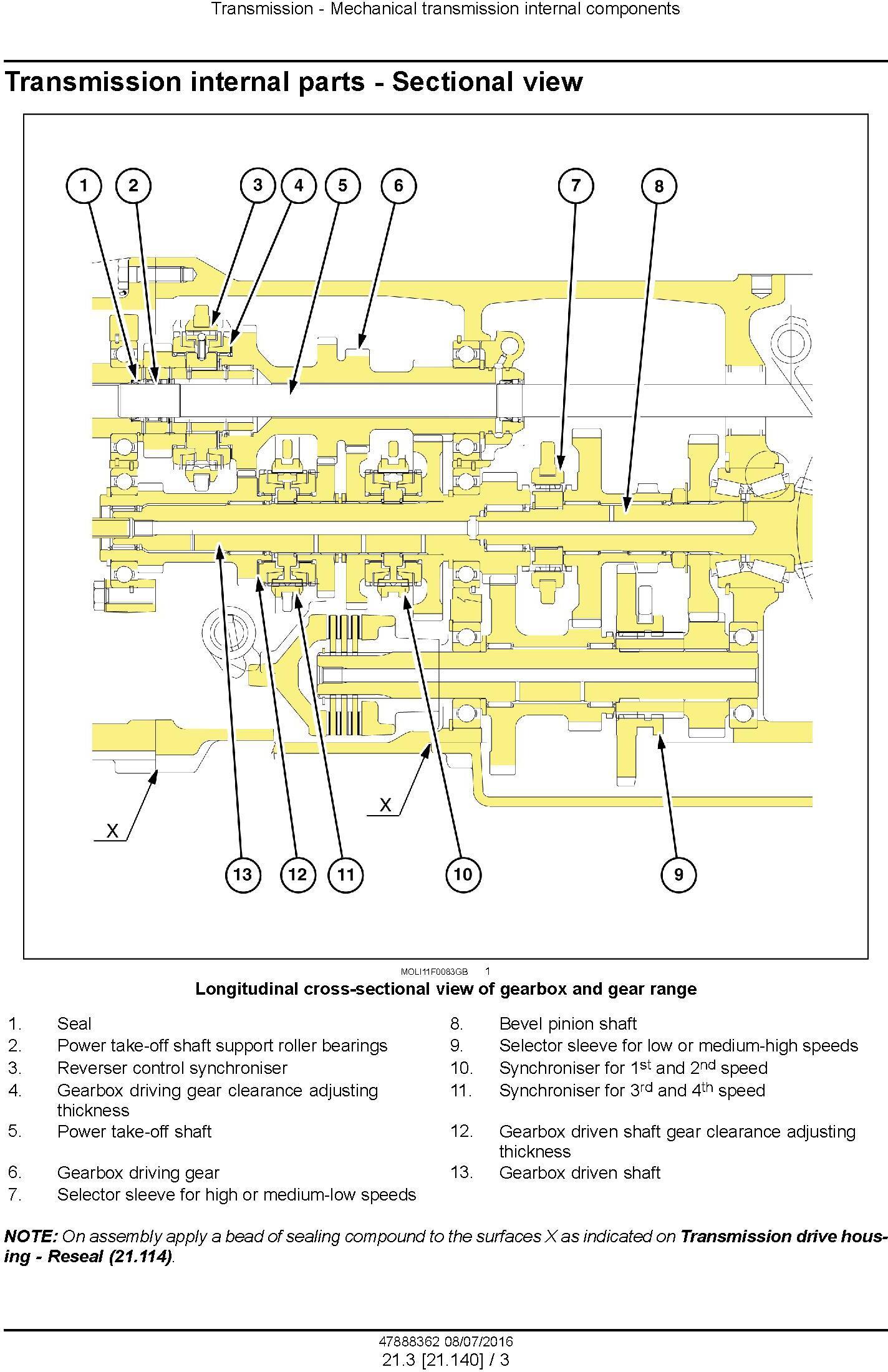 New Holland T4.75F, T4.85F, T4.95F, T4.105F Tier 3 Tractor Complete Service Manual (North America) - 2