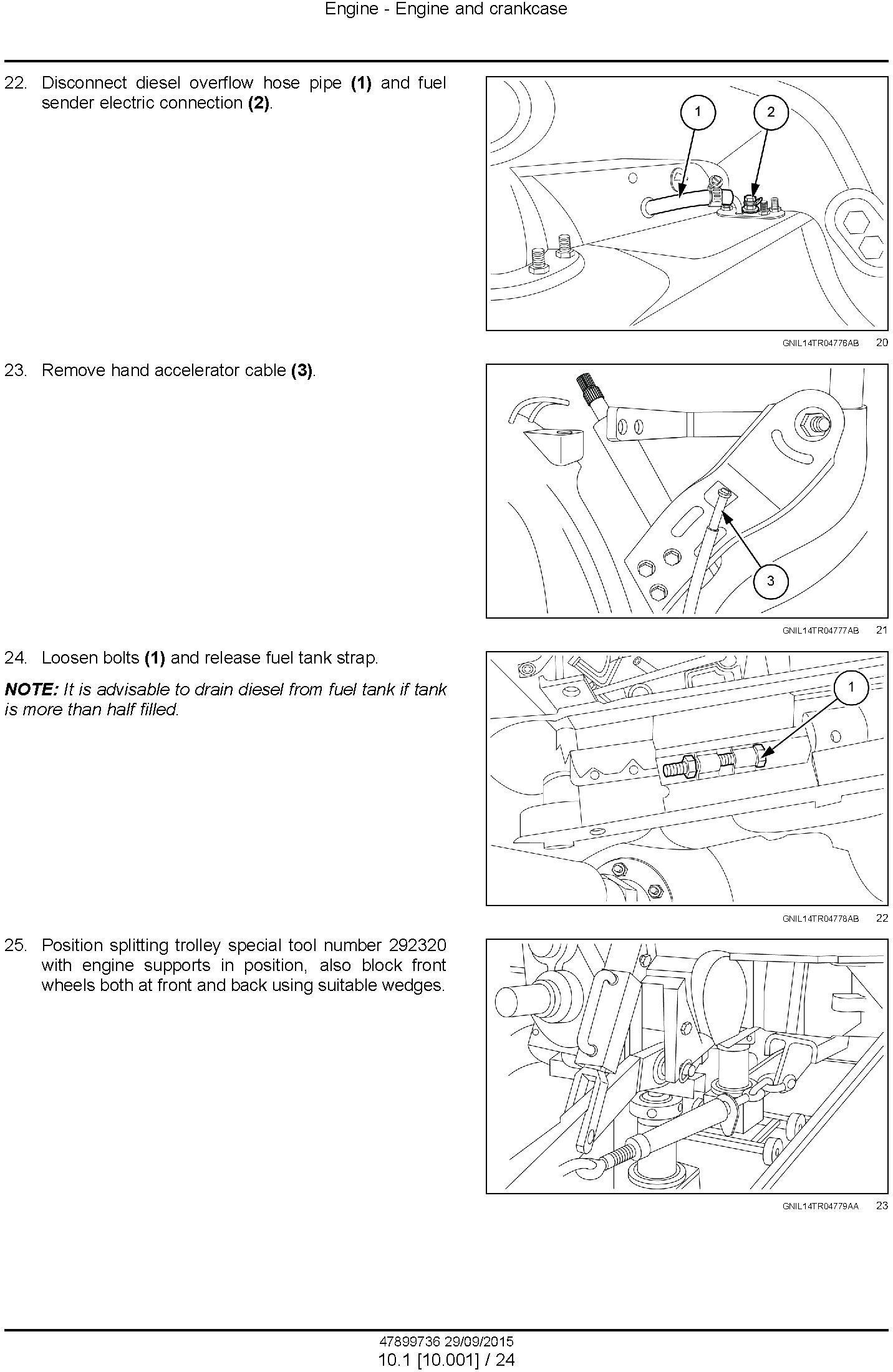 New Holland TT35, TT40, TT45 2WD or 4WD Tractor Service Manual - 1