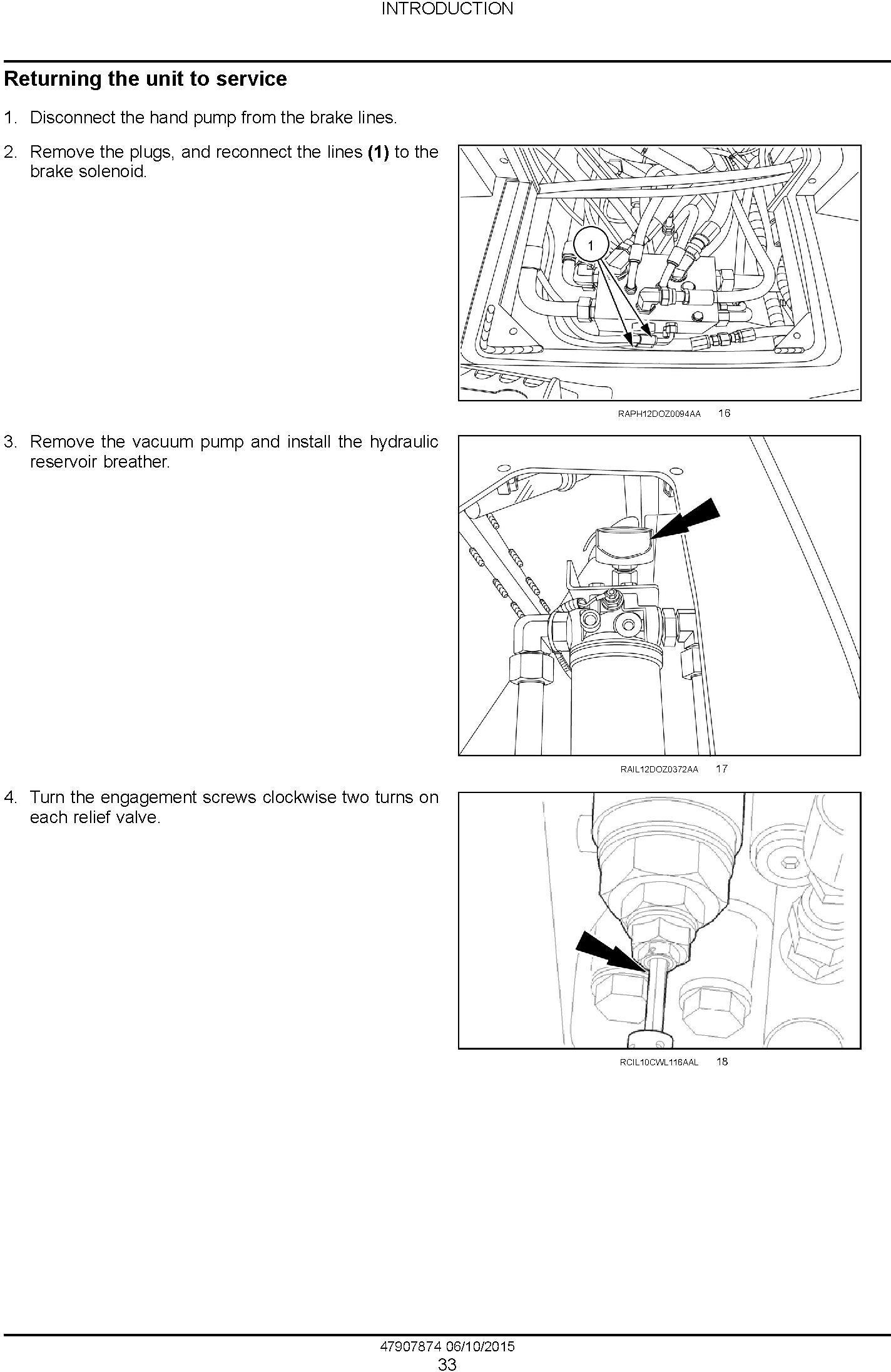 New Holland D125C Stage IIIB Crawler dozer Service Manual - 1