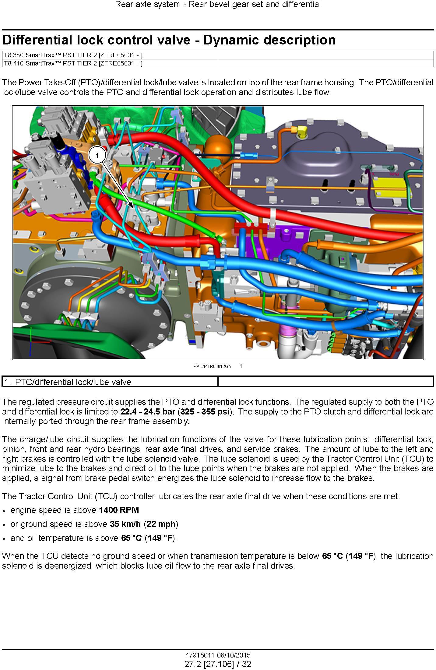 New Holland T8.320, T8.350, T8.380, T8.410 and SmartTrax Tier 2 Tractor with PST Service Manual - 2