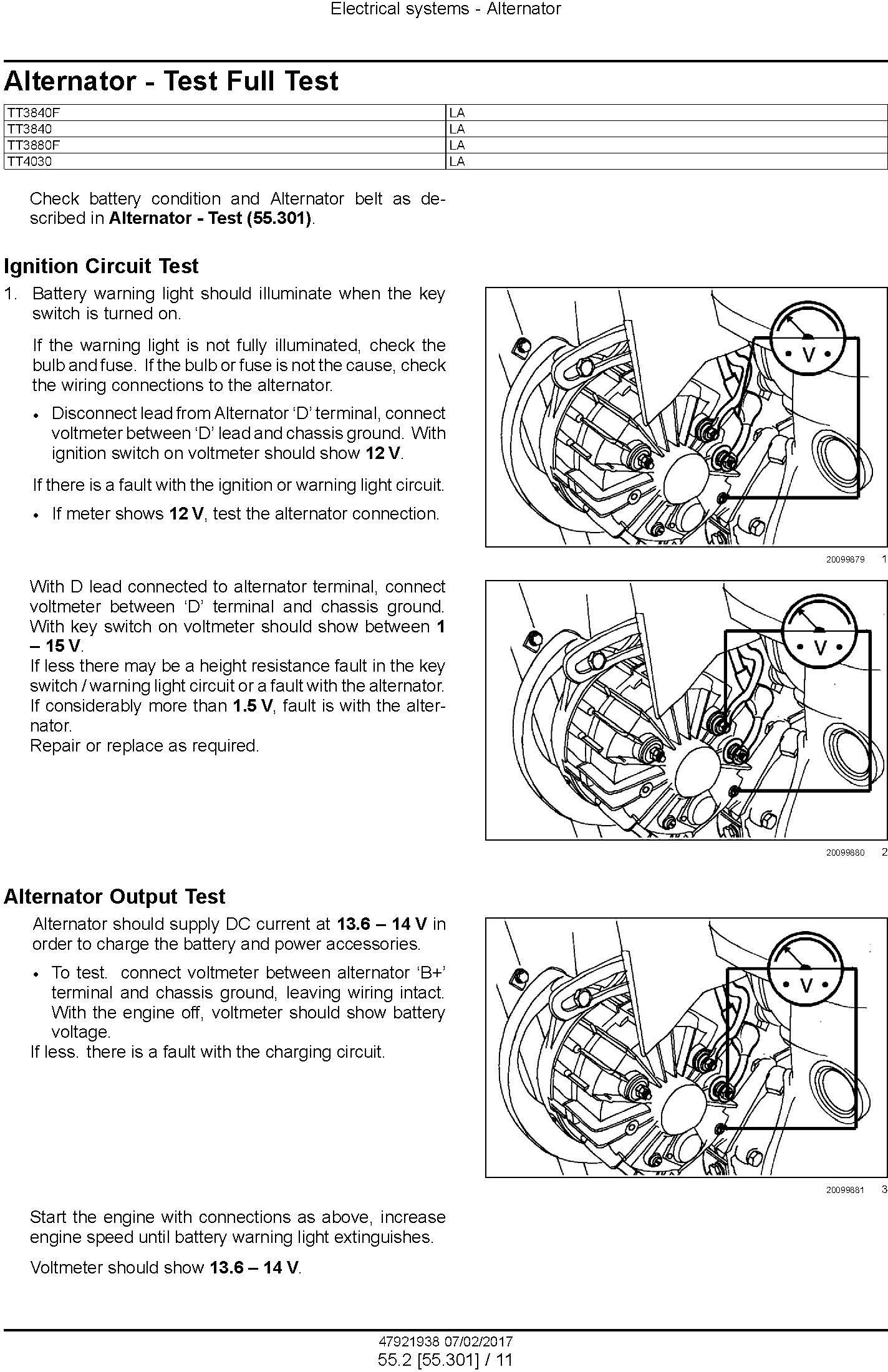 New Holland TT3840, TT3840F, TT4030, TT3880F Tractor Service Manual (Latin America) - 1