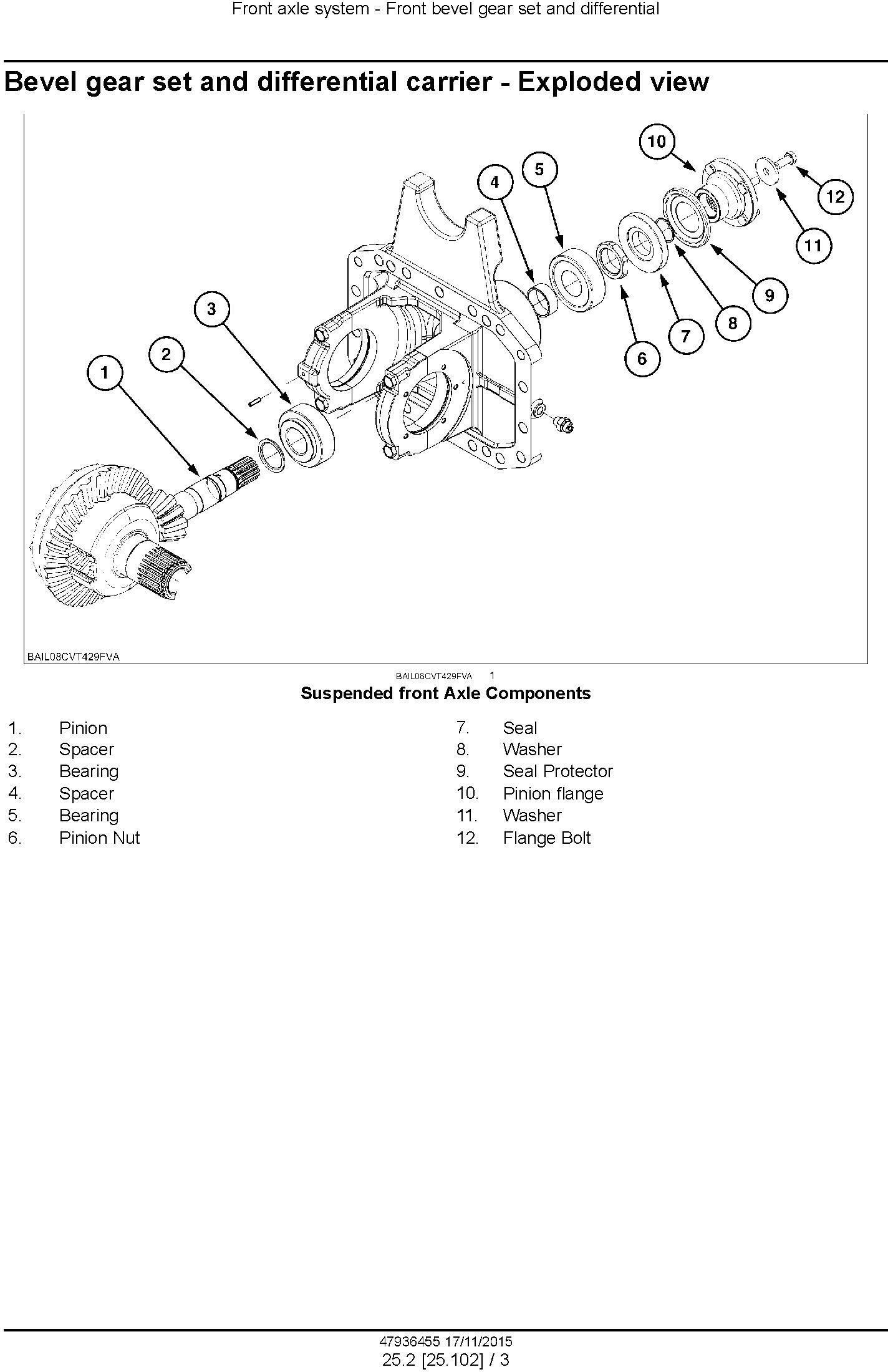 New Holland T7.230, T7.245, T7.260, T7.270 AutoCommand Tier 4B (final) Complete Service Manual (USA) - 2