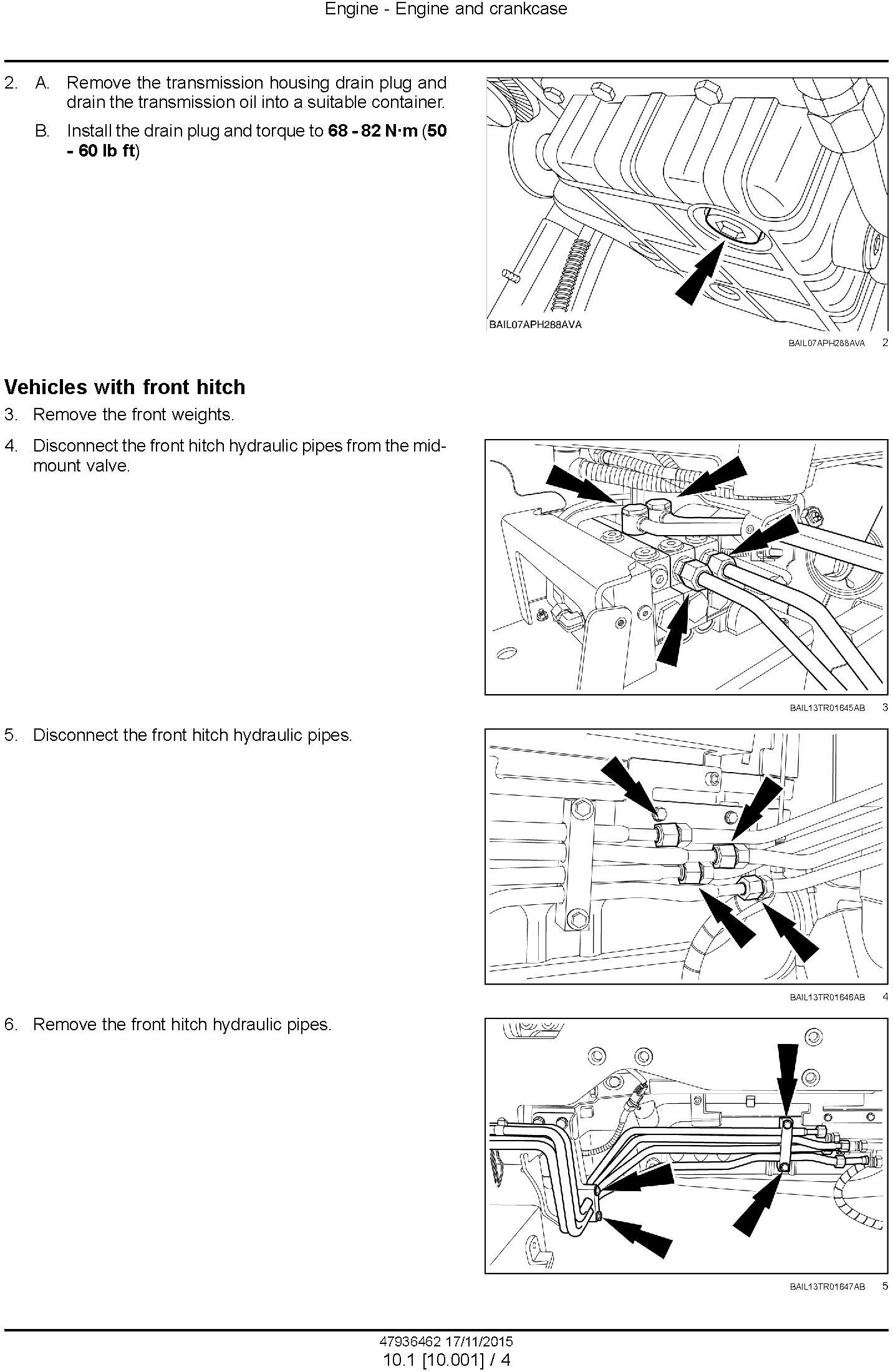 New Holland T7.175, T7.190, T7.210, T7.225 AutoCommand Tier 4B (final) Tractor Service Manual (USA) - 1