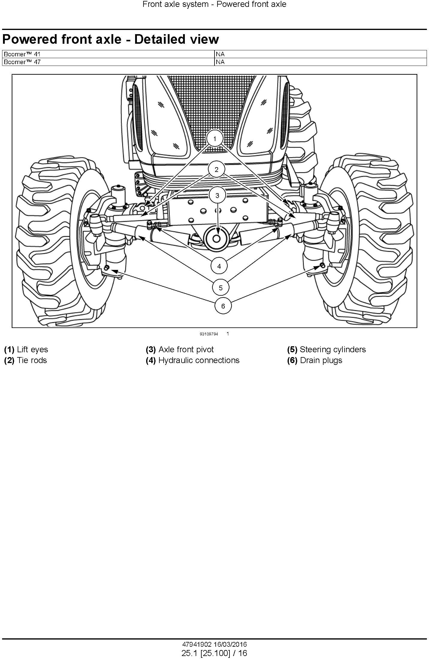 New Holland Boomer 41, 47 Tier 4B (final) Compact Tractor Complete Service Manual - 1