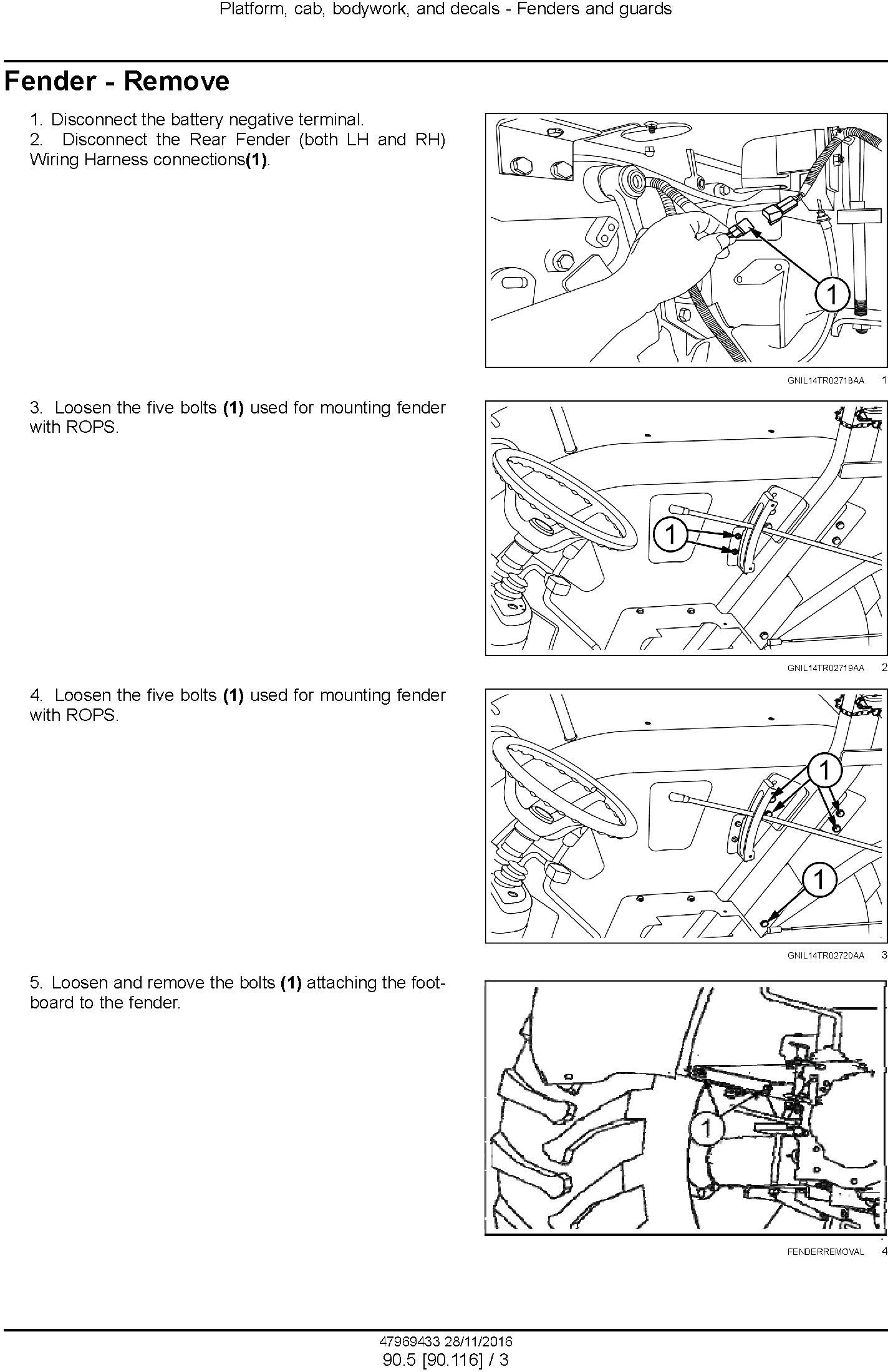 New Holland 6010, 6510, 7510 Tractor Service Manual - 1