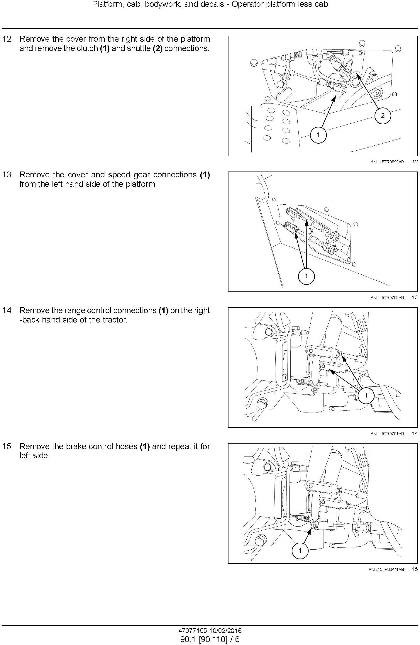 New Holland T3.50F, T3.55F, T3.65F, T3.75F Tractor Service Manual - 1