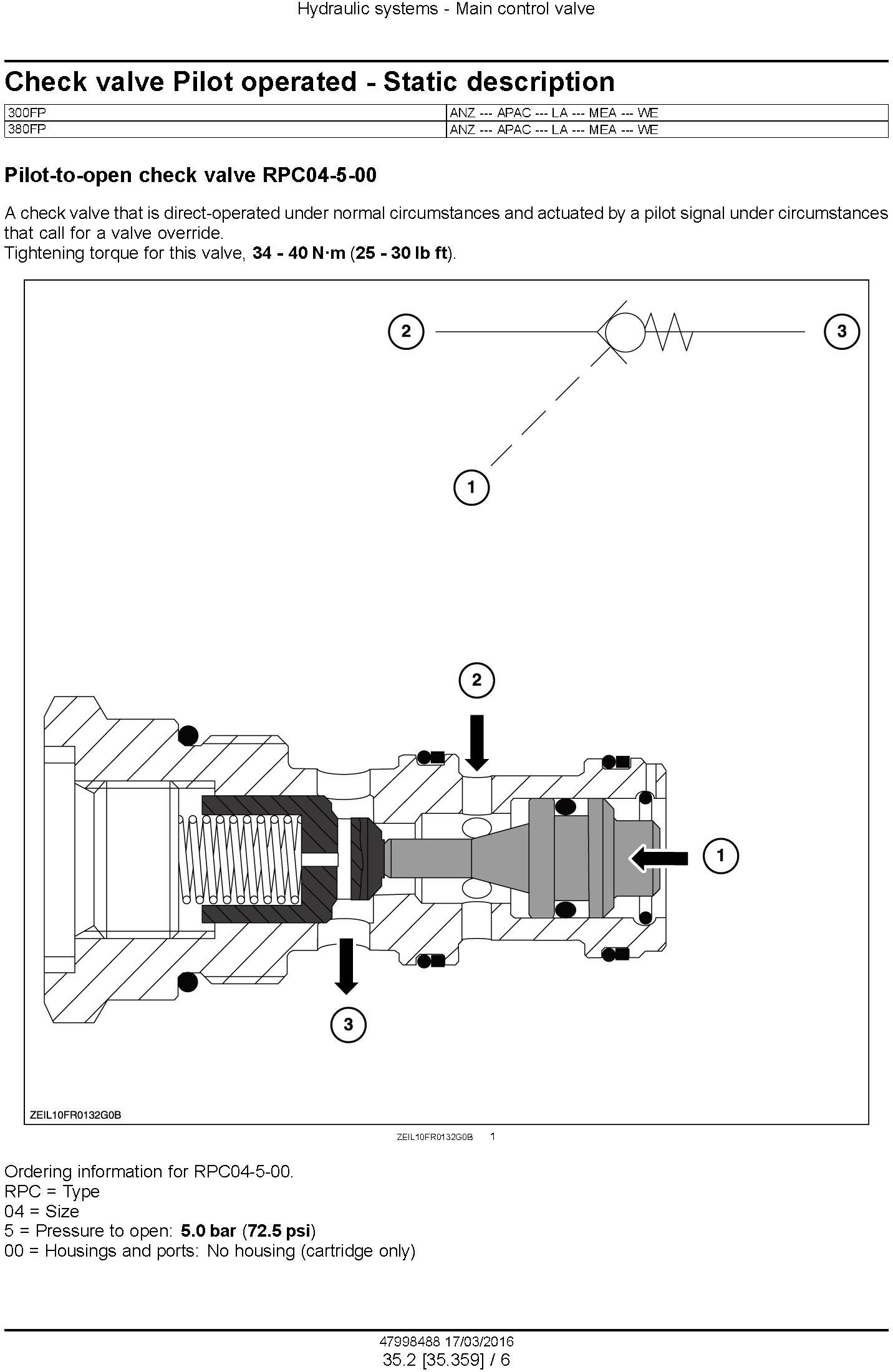 New Holland 300FP, 380FP Header (from PIN 3501) Service Manual - 3