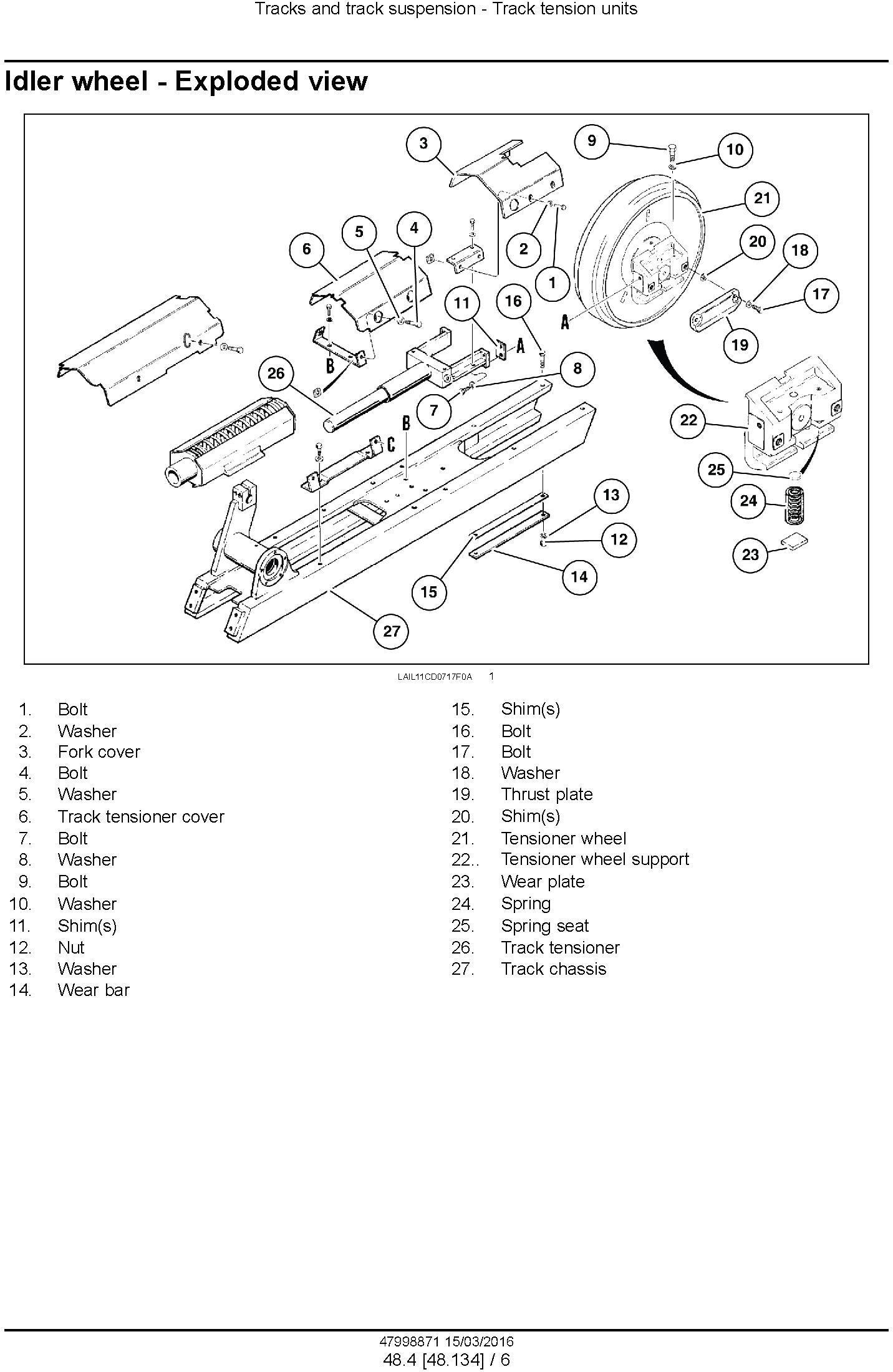 New Holland D140B Crawler dozer Service Manual - 2