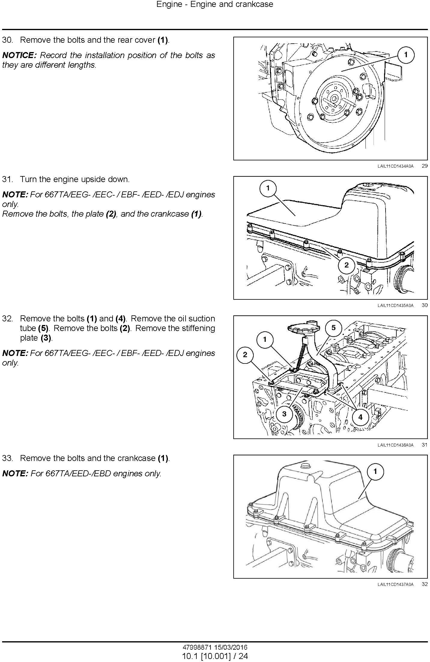 New Holland D140B Crawler dozer Service Manual - 1