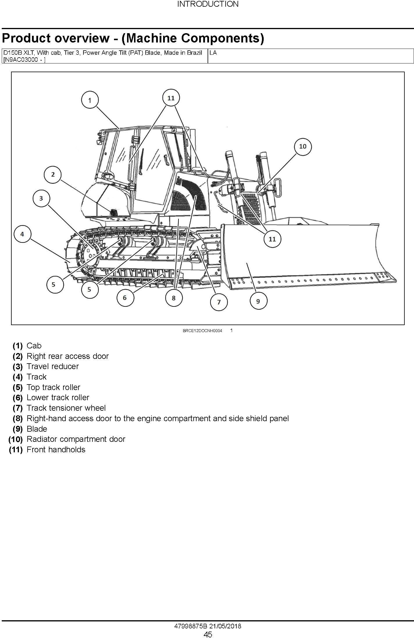 New Holland D150B XLT Crawler Dozer Service Manual (Brasil) - 1