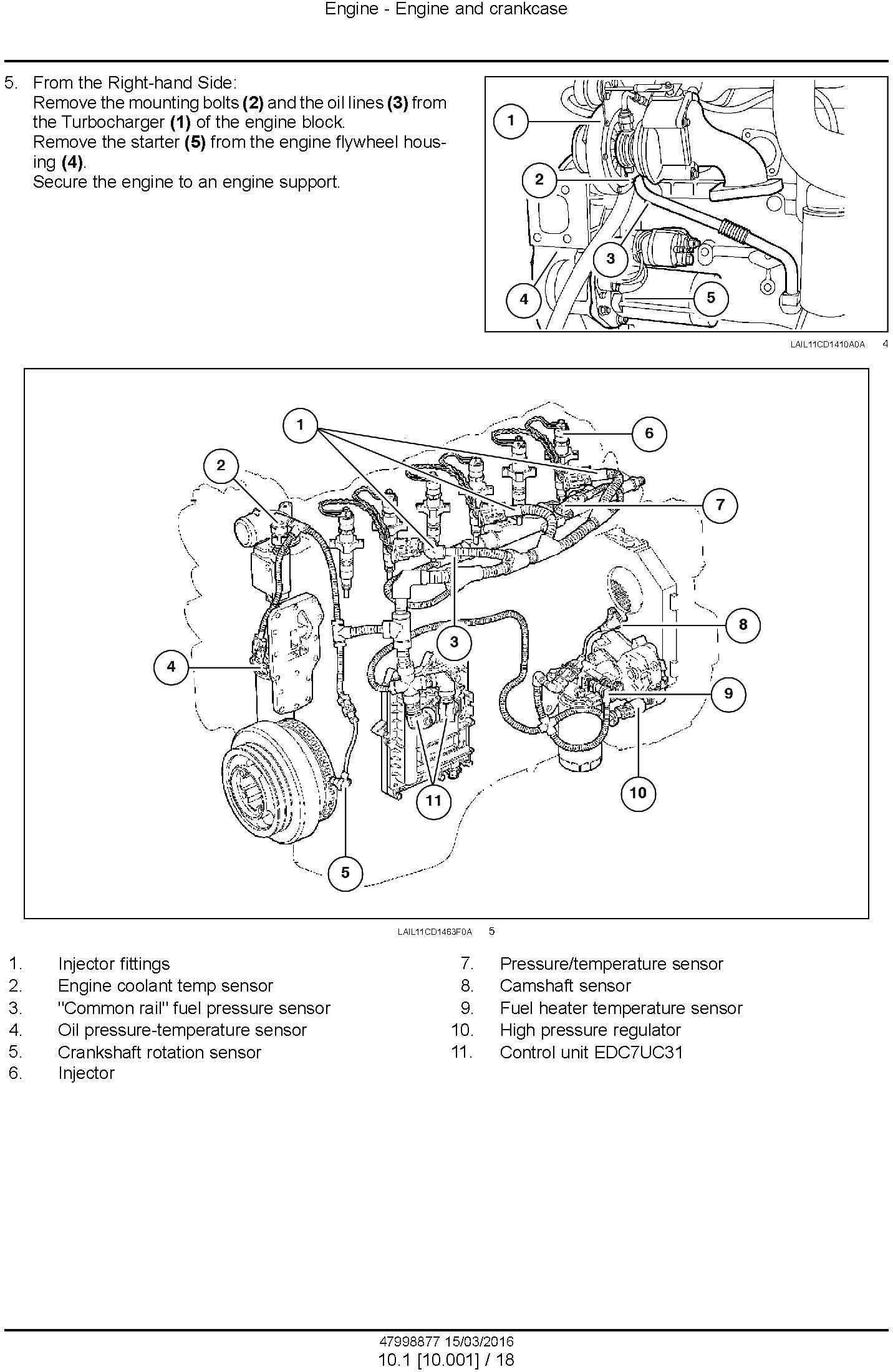 New Holland , Case 1650L Crawler dozer Service Manual - 2