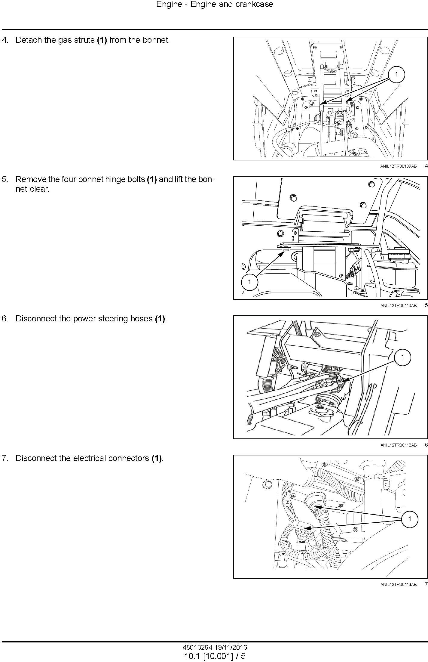 New Holland TD95D HC Tractor Service Manual - 1