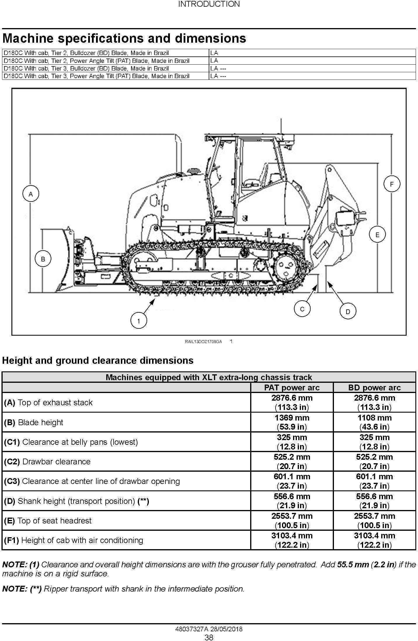 New Holland D180C Crawler Dozer Tier2 and Tier3 Service Manual (Made in Brazil) - 1