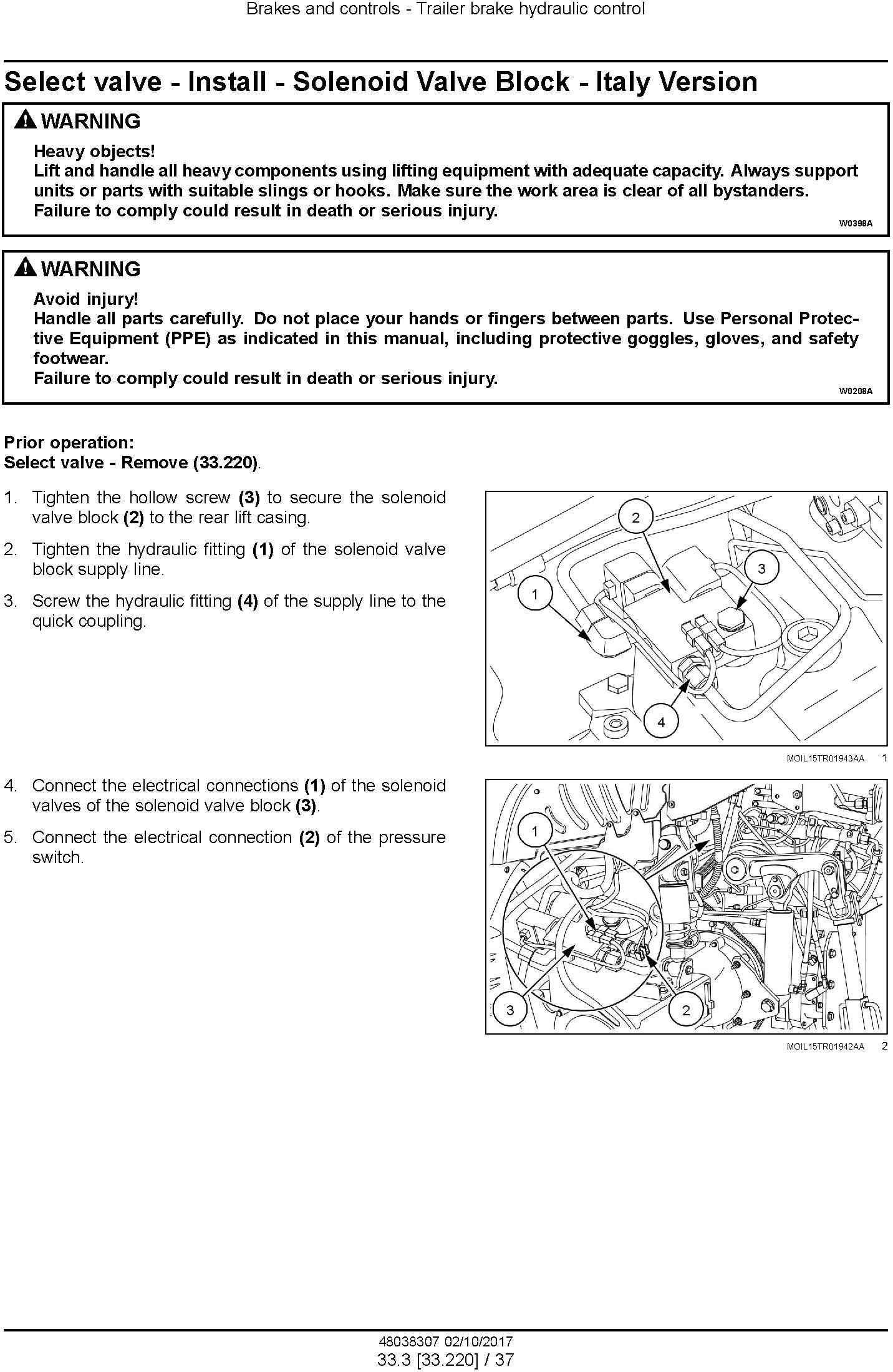 New Holland T5.100, T5.110, T5.120 Electro Command Stage IV Tractor Service Manual - 2