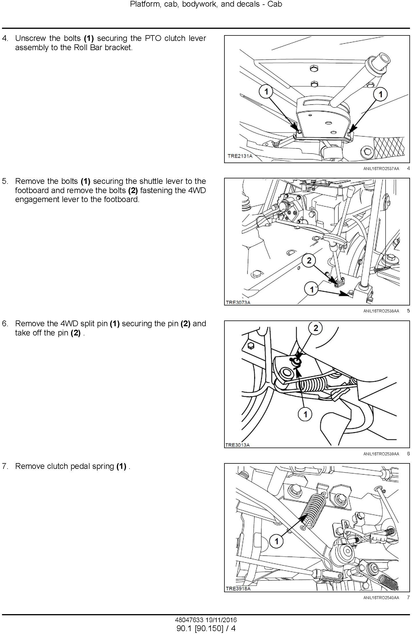 New Holland TD60, TD70, TD80, TD90, TD95 Straddle Tractor Service Manual (Asia, Africa) - 1