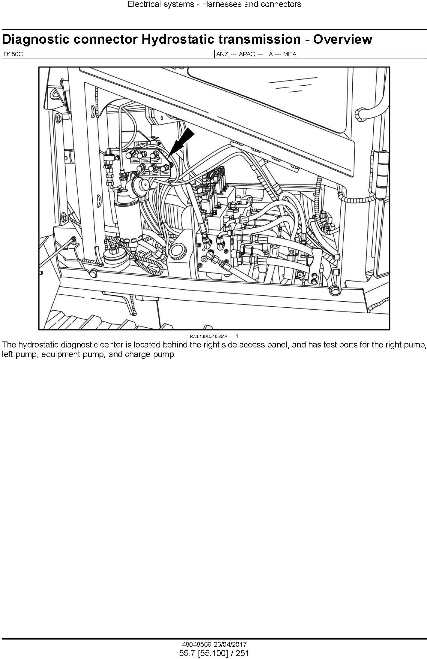 New Holland D150C Tier 2 Crawler Dozer Service Manual - 3