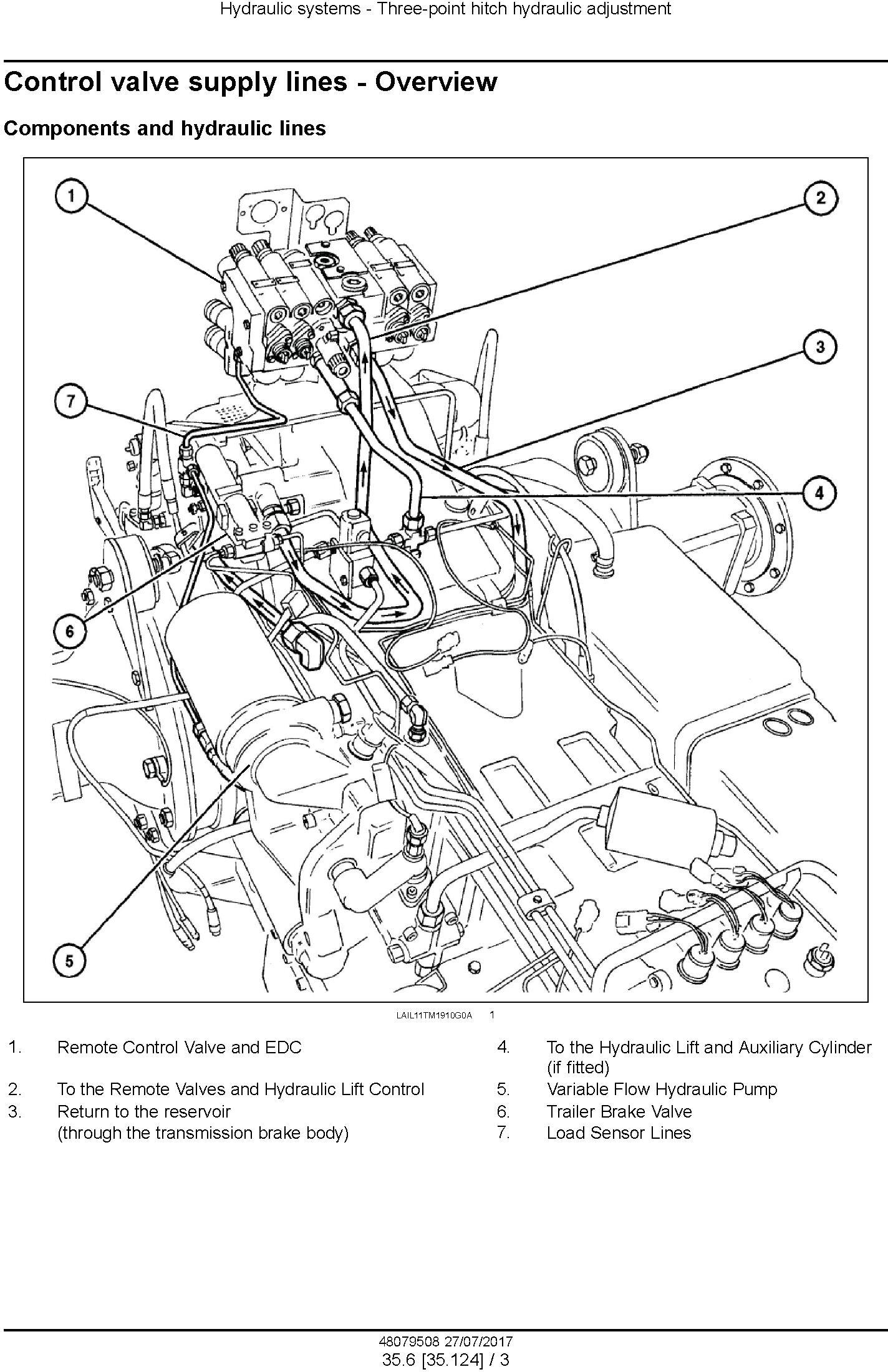 New Holland T7.150, T7.180 Tractor Service Manual (Africa) - 2