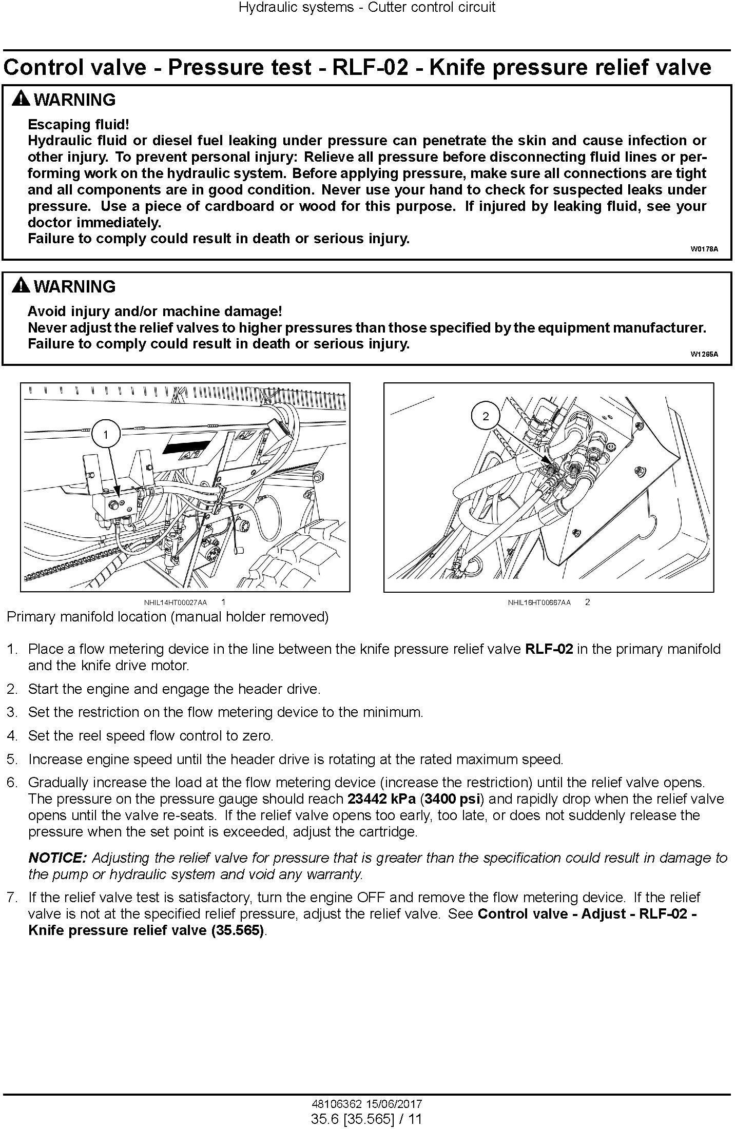 New Holland DuraSwath 421HB, 425HB, 430HB, 436HB, 440HB Draper Headers Service Manual - 3