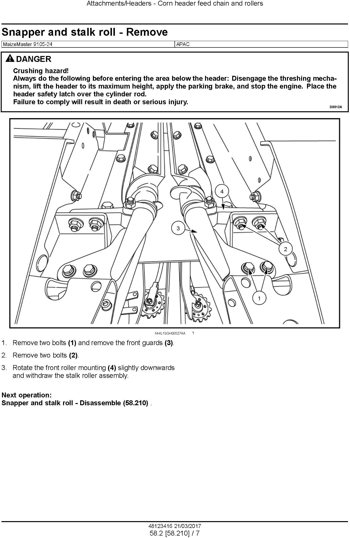 New Holland MaizeMaster 9105-24 Corn header Service Manual - 3
