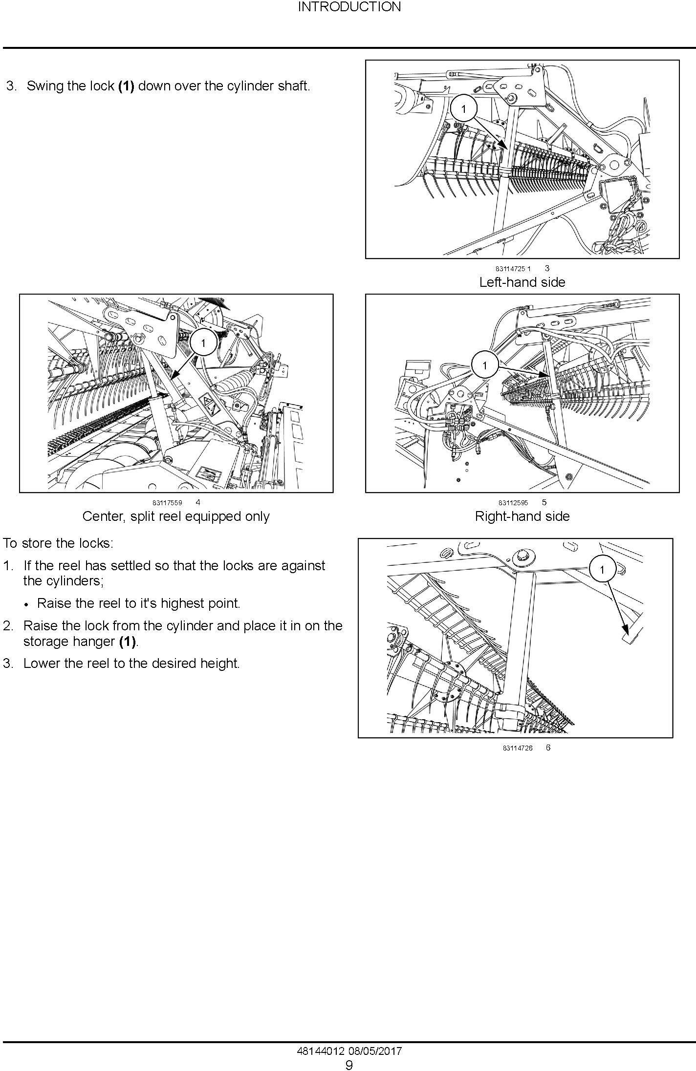 New Holland 840CD, 880CF (PIN: YHH042800 and above) Draper header Service Manual - 1