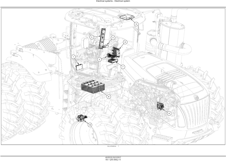 New Holland T9.435, T9.480, T9.530, T9.565, T9.600, T9.645, T9.700 Tier4B Tractor Service Manual(EU) - 2
