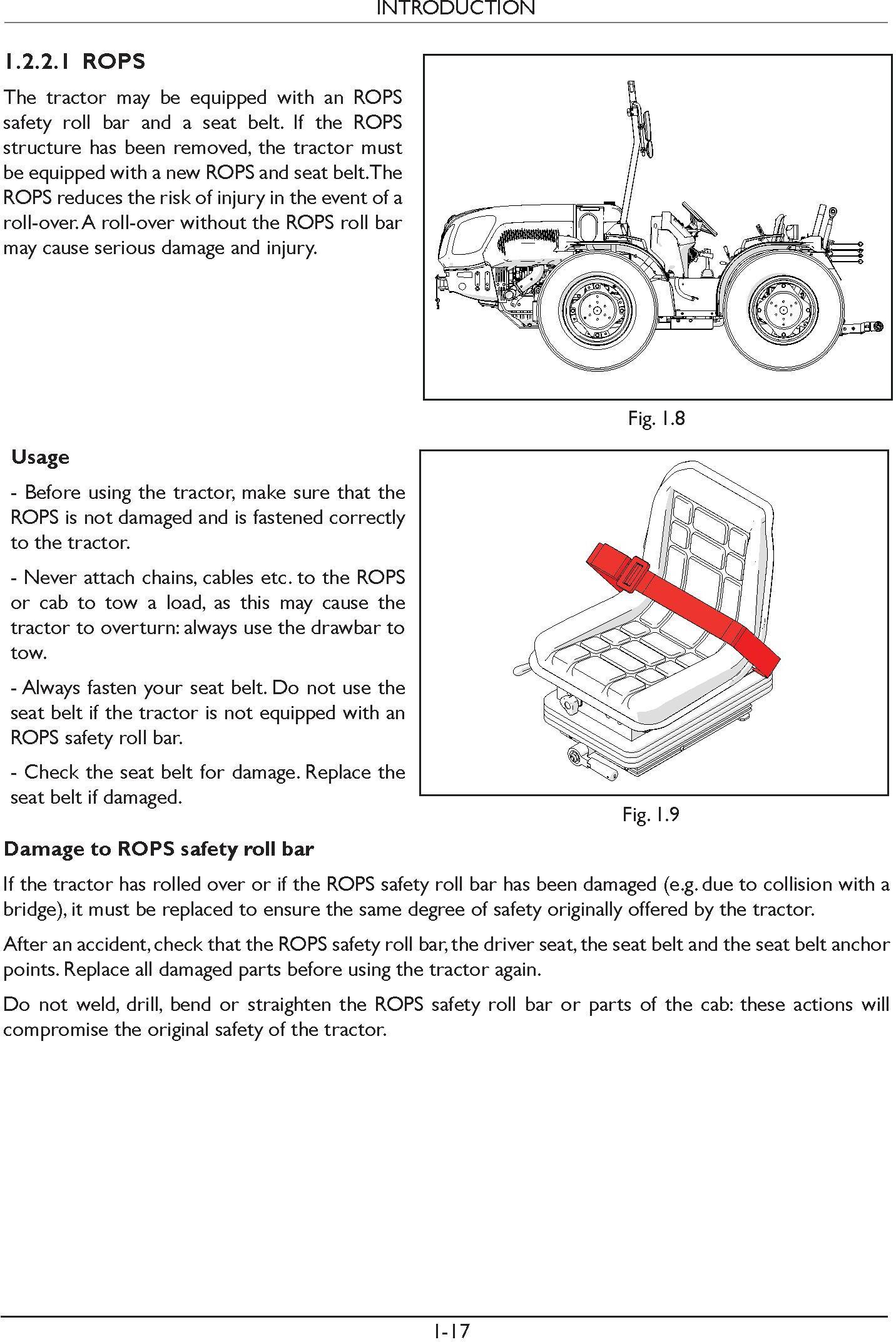New Holland TI4.70 RS, TI4.80 RS, TI4.90 RS, TI4.100 RS Tractor Service Manual - 1