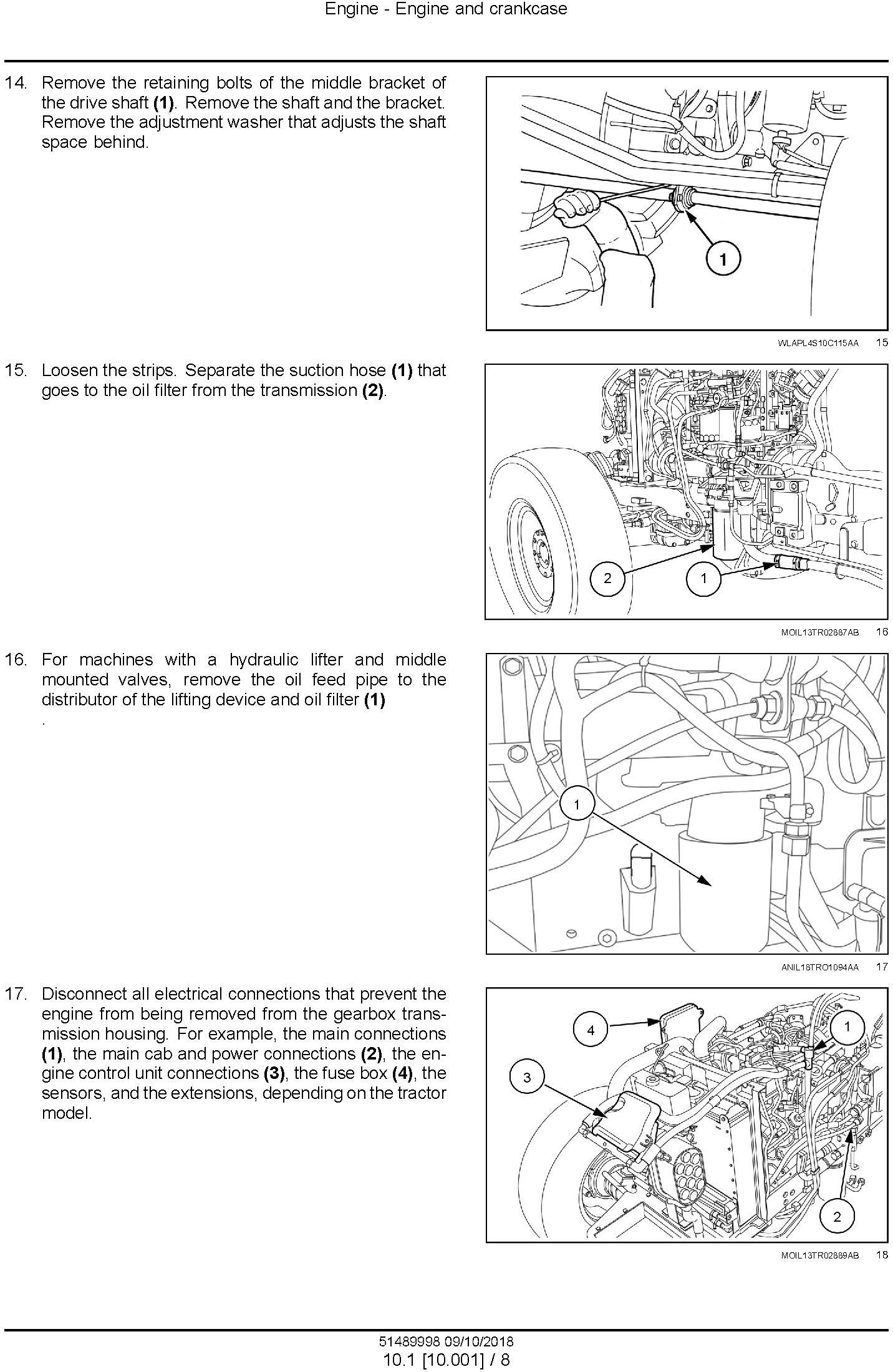 New Holland Workmaster 55, Workmaster 65, Workmaster 75 Tractor Service Manual - 1