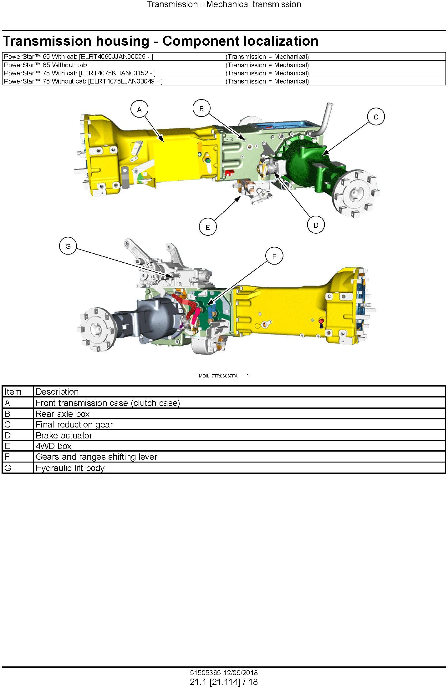 New Holland PowerStar 65, PowerStar 75 Tier 4B final Tractor Service Manual (North America) - 2